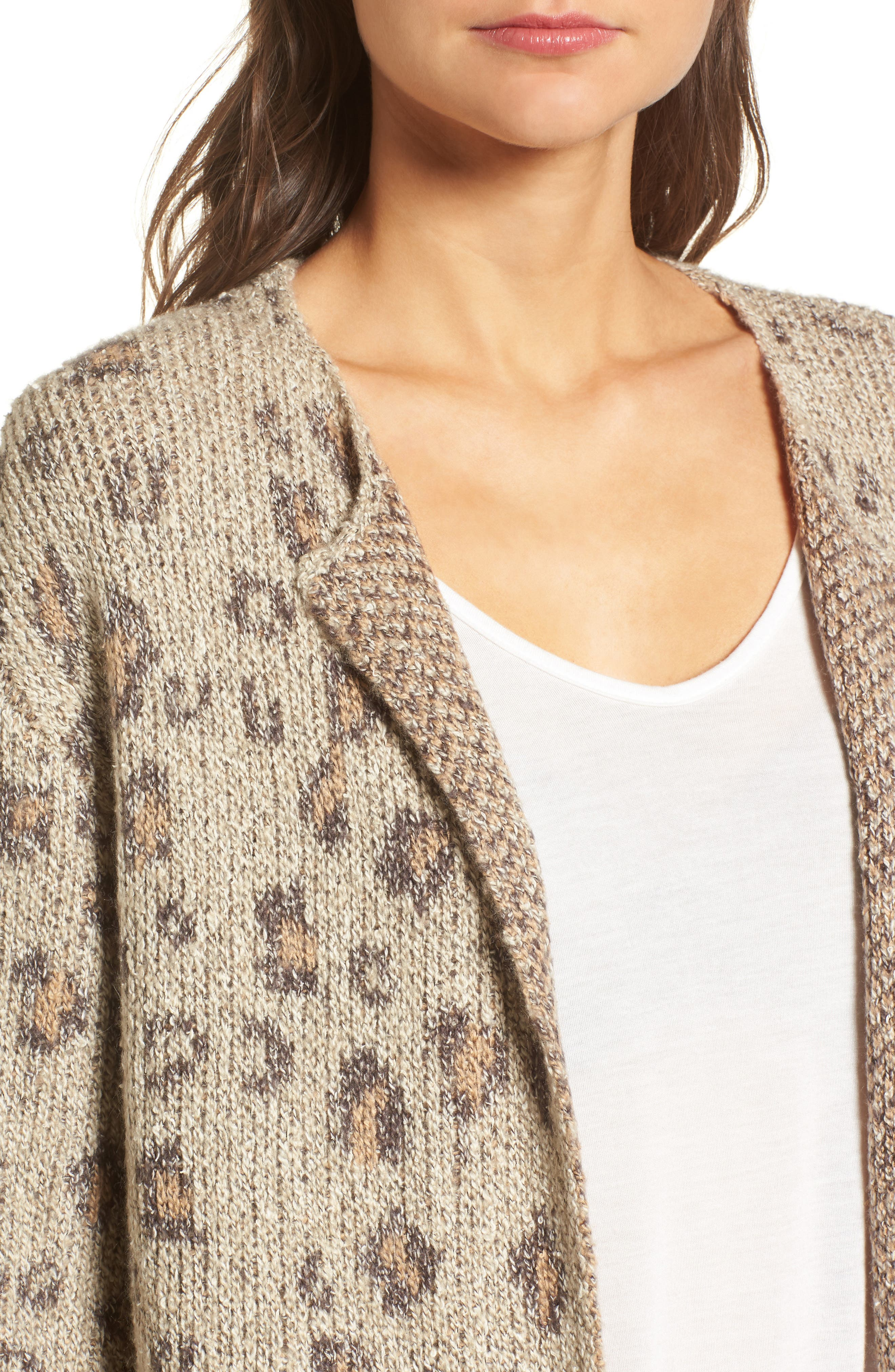 Alternate Image 4  - cupcakes and cashmere Noely Leopard Pattern Cardigan