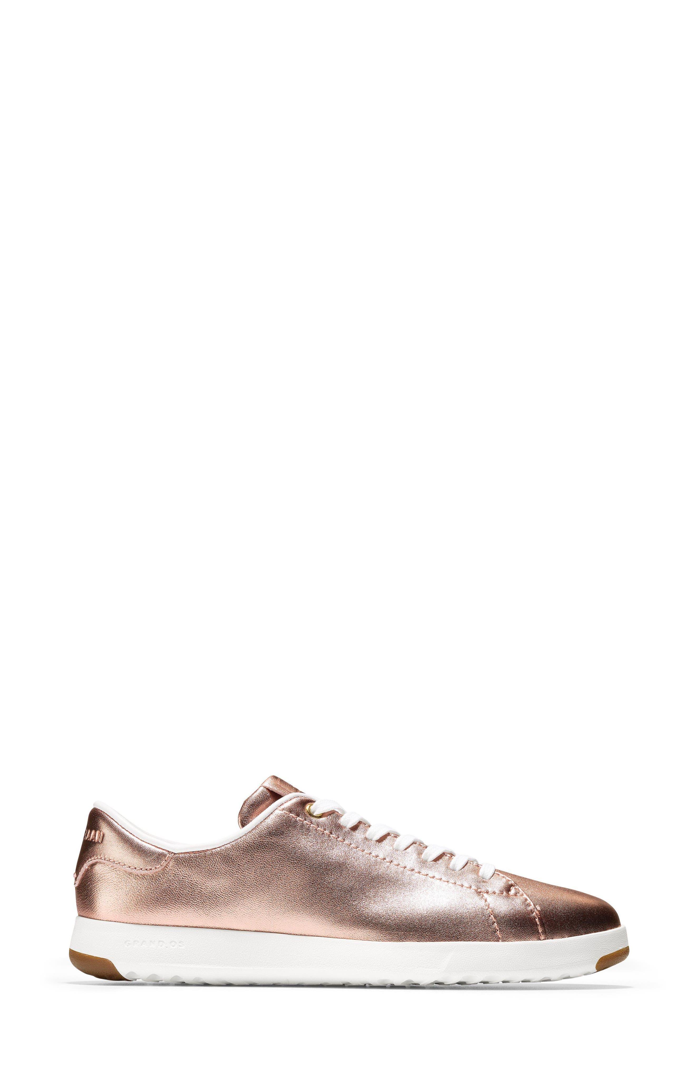 GrandPro Tennis Shoe,                             Alternate thumbnail 3, color,                             Rose Gold Leather