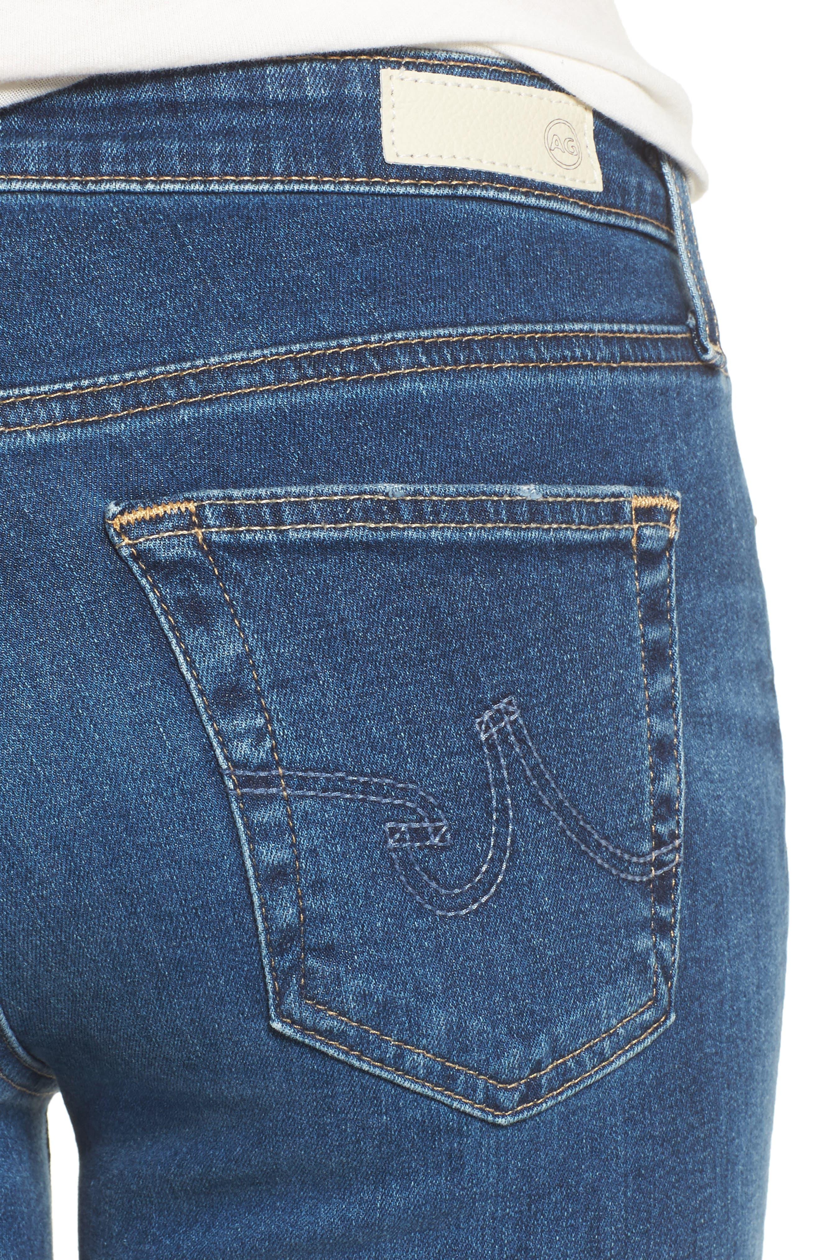 Alternate Image 4  - AG The Legging Ankle Super Skinny Jeans