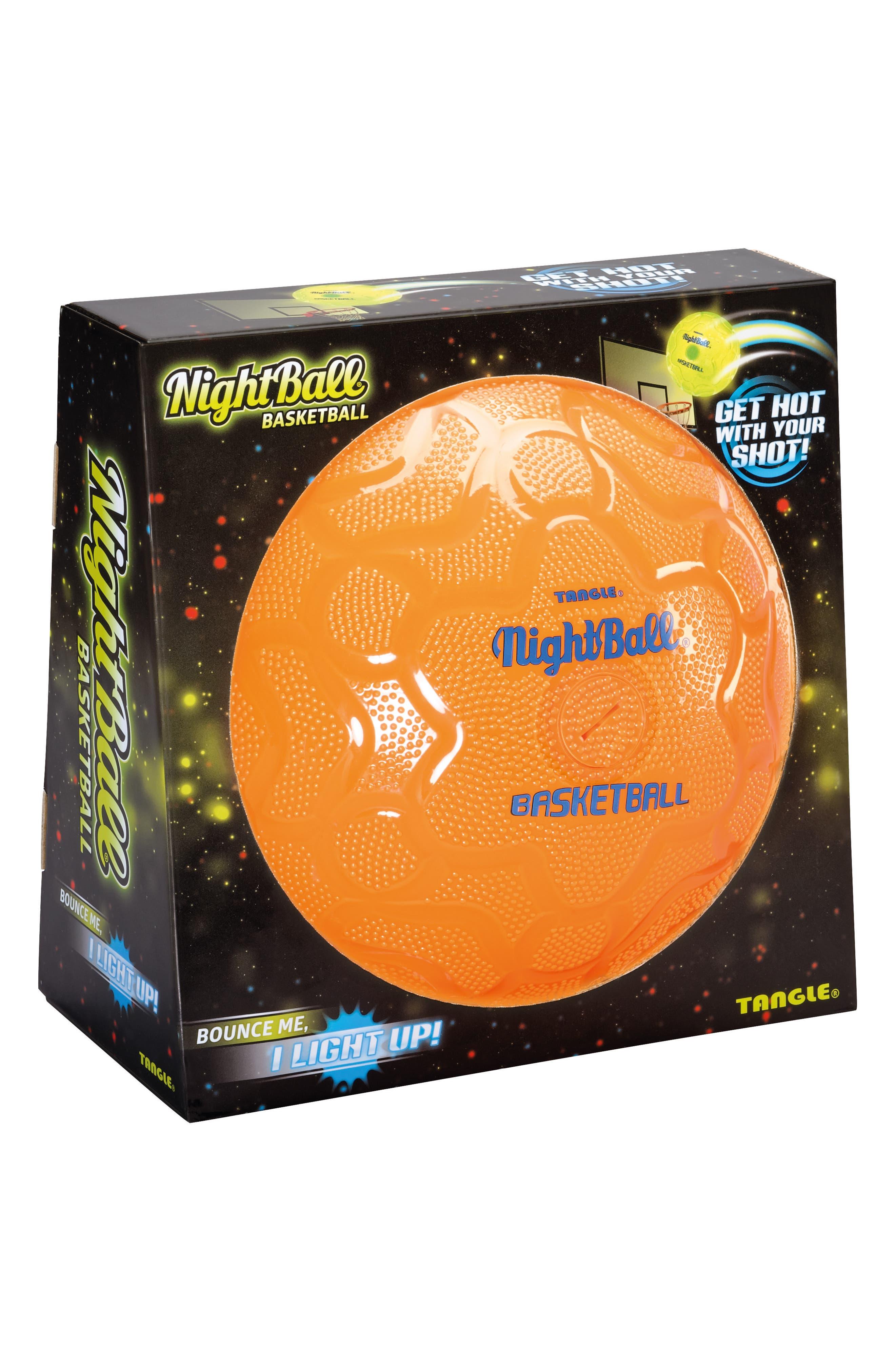 NightBall Basketball,                             Alternate thumbnail 2, color,                             Orange