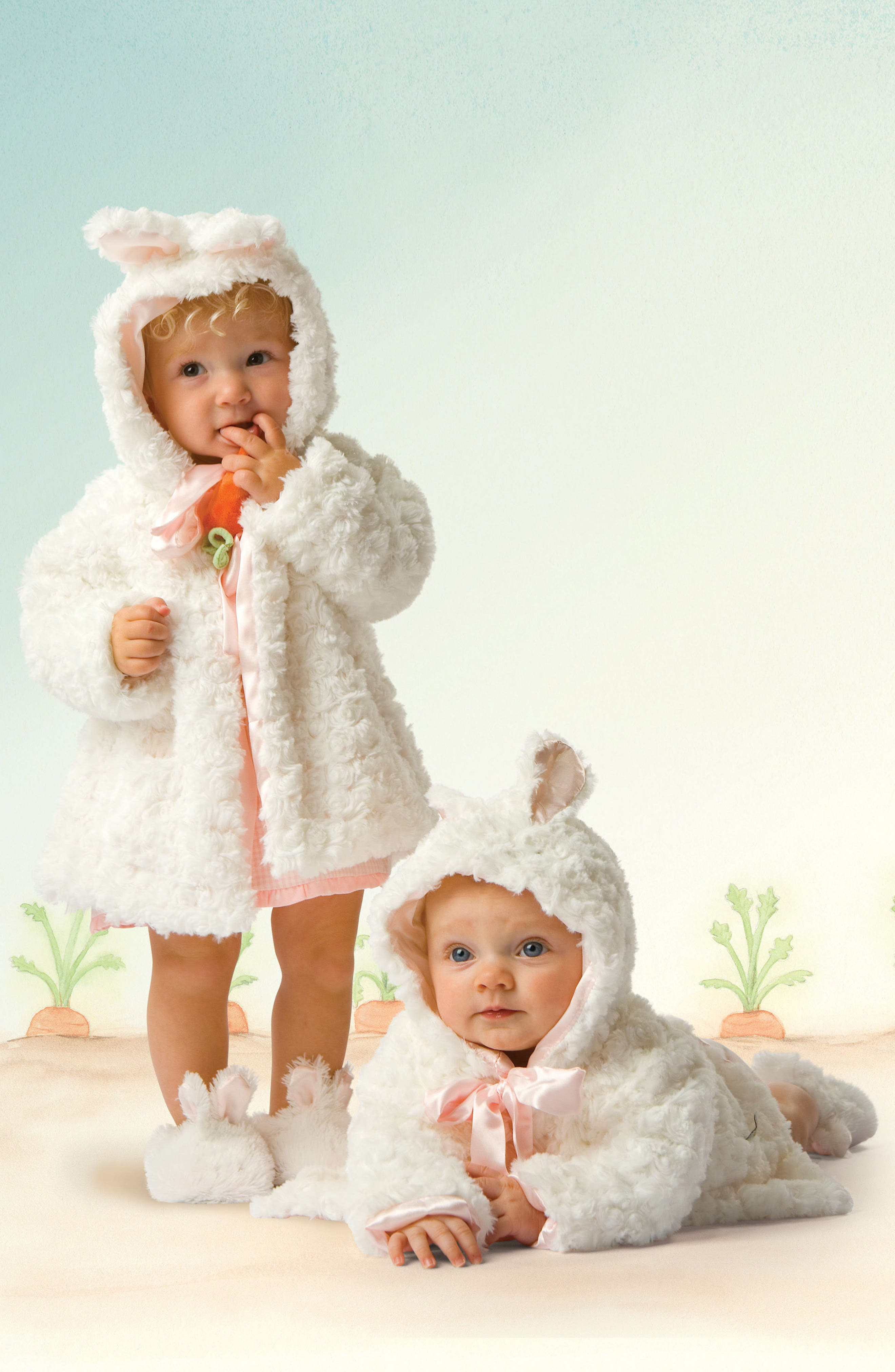 Alternate Image 2  - Bunnies By The Bay Cuddle Coat (Baby)