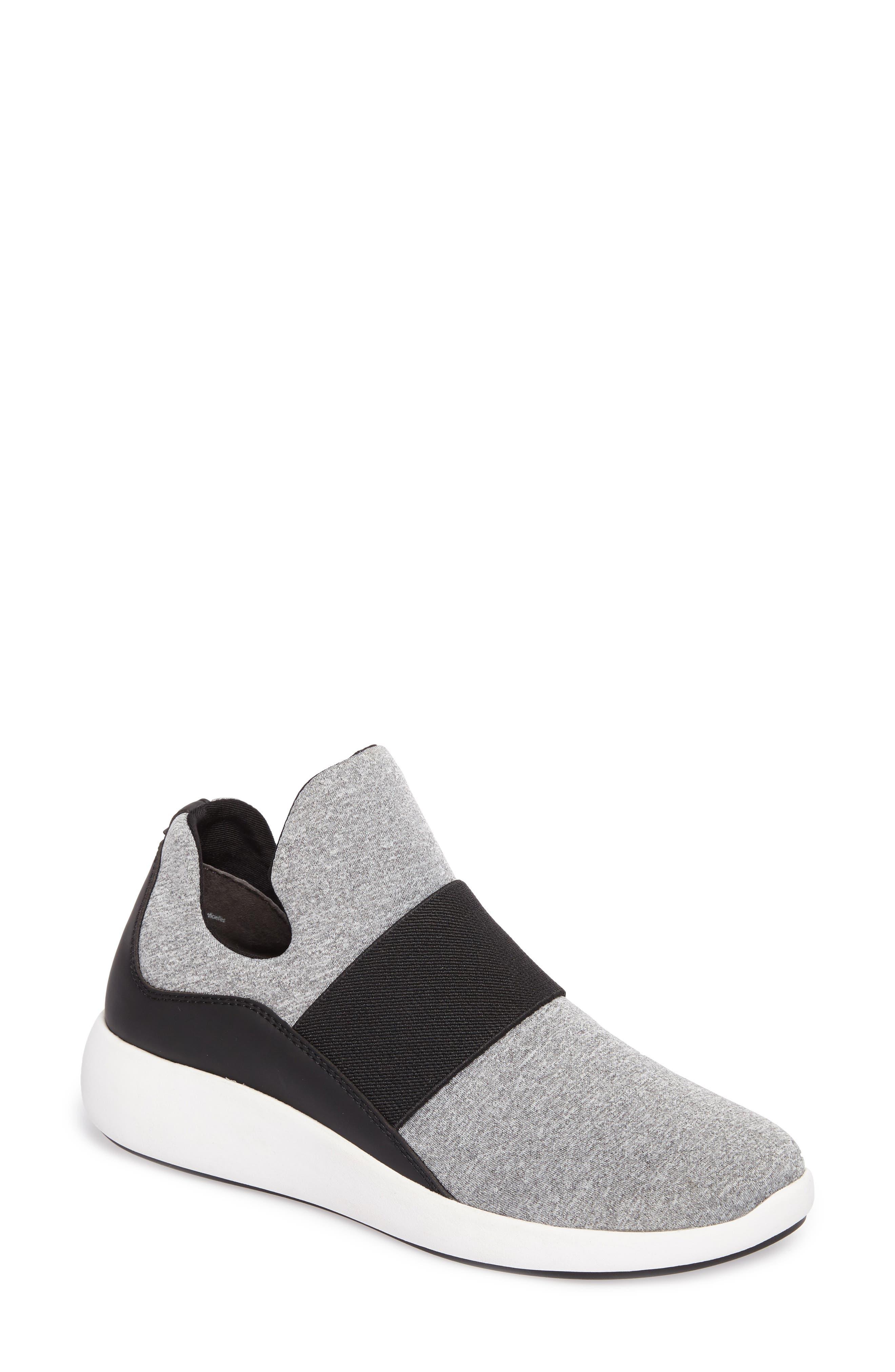 Donna Karan Cory Slip-On Sneaker,                             Main thumbnail 1, color,                             Light Pearl/ Black