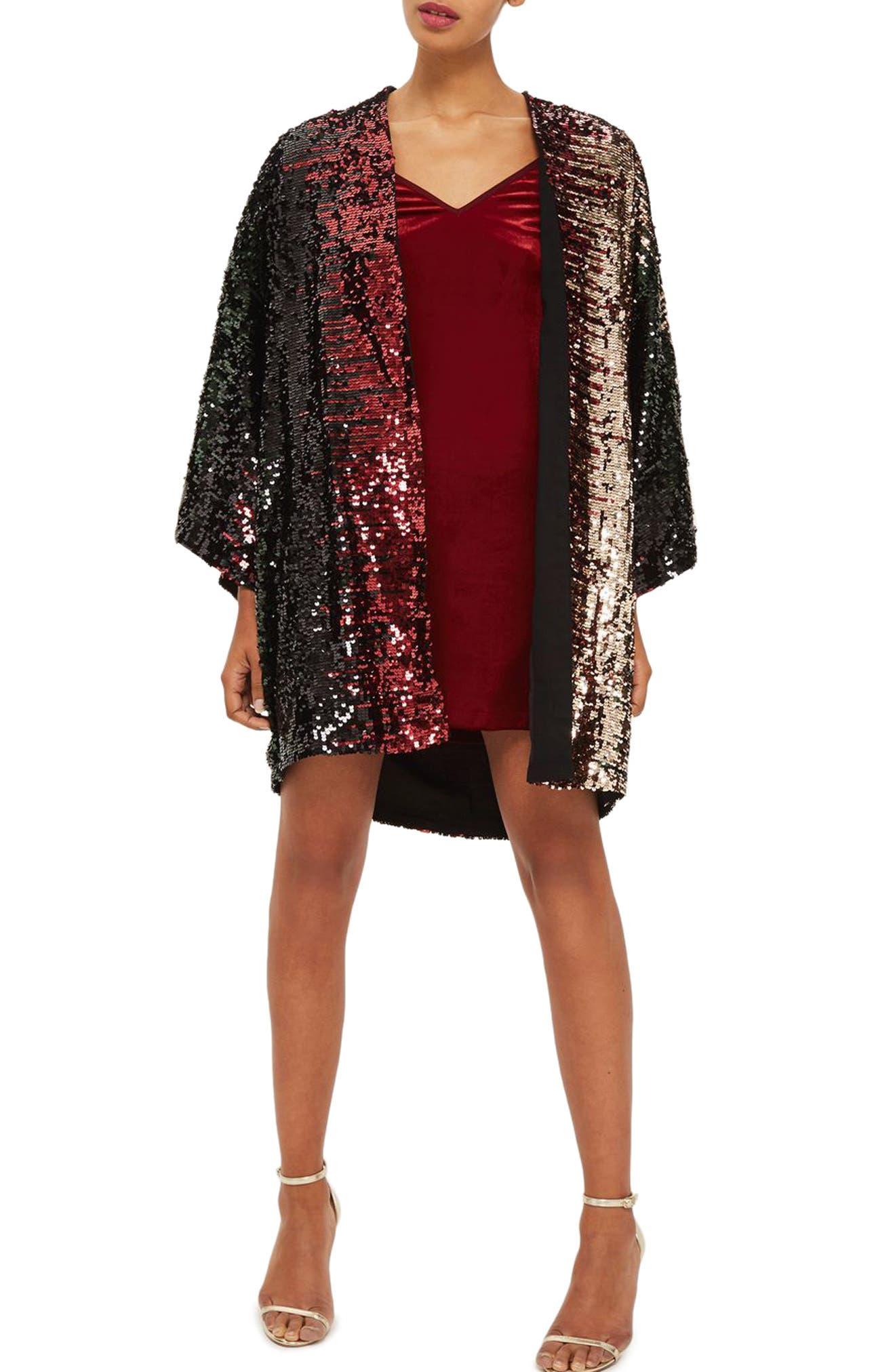 Topshop Calypso Sequin Kimono