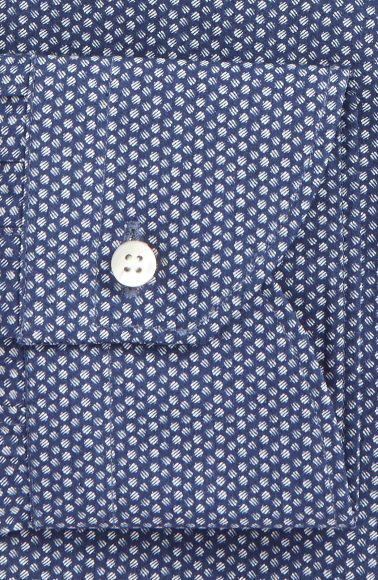 Alternate Image 2  - Canali Regular Fit Dot Dress Shirt