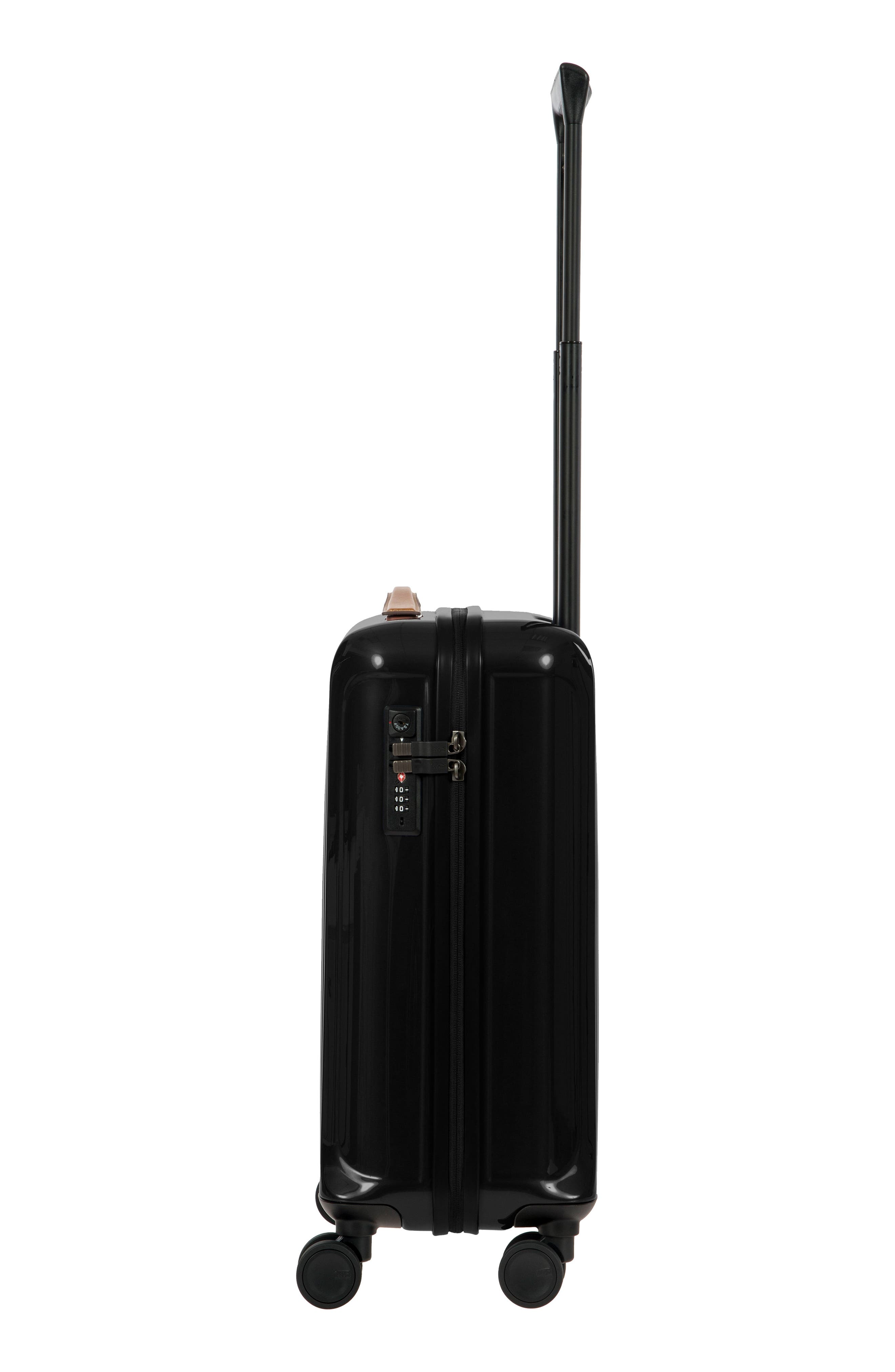 Capri 21-Inch Spinner Carry-On,                             Alternate thumbnail 4, color,                             Black