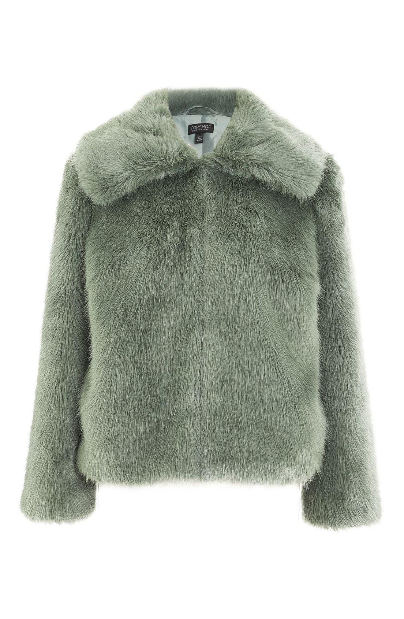 Alternate Image 4  - Topshop Claire Faux Fur Coat