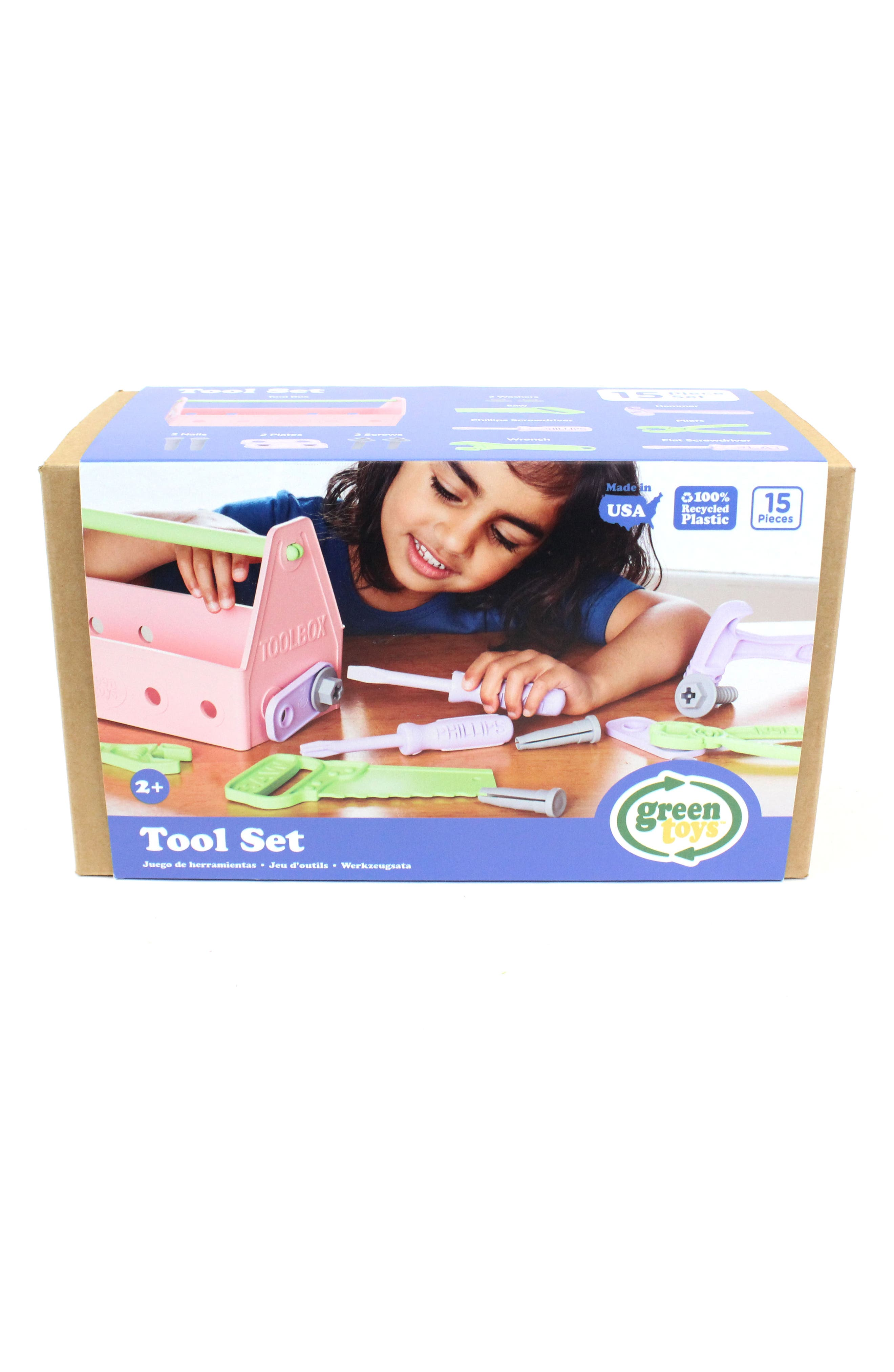Alternate Image 5  - Green Toys 15-Piece Plastic Tool Set