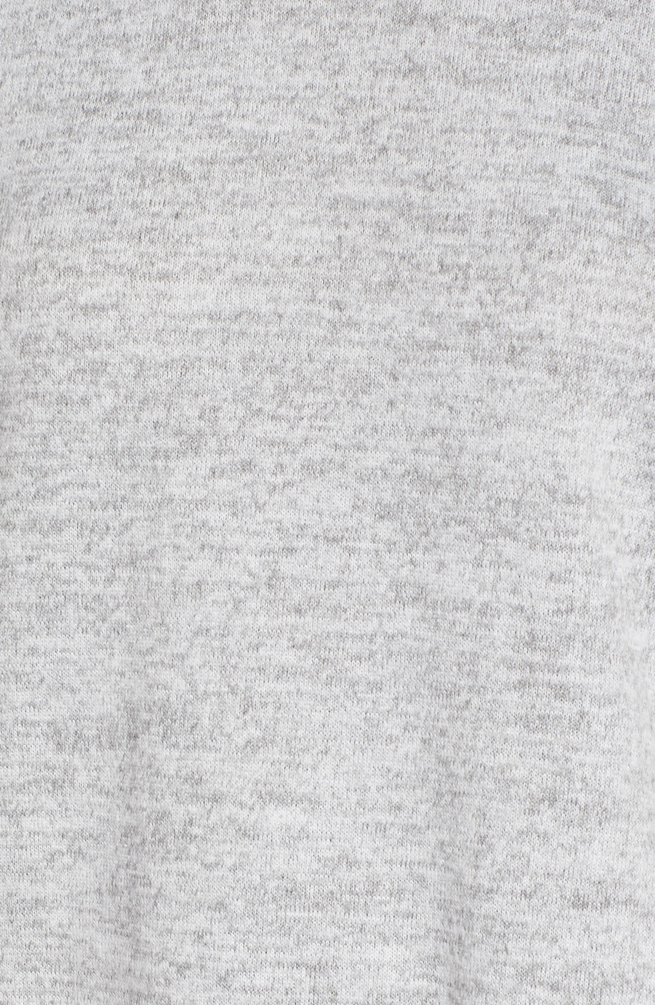 Ruffle Sleeve Sweatshirt Dress,                             Alternate thumbnail 5, color,                             Heather Grey