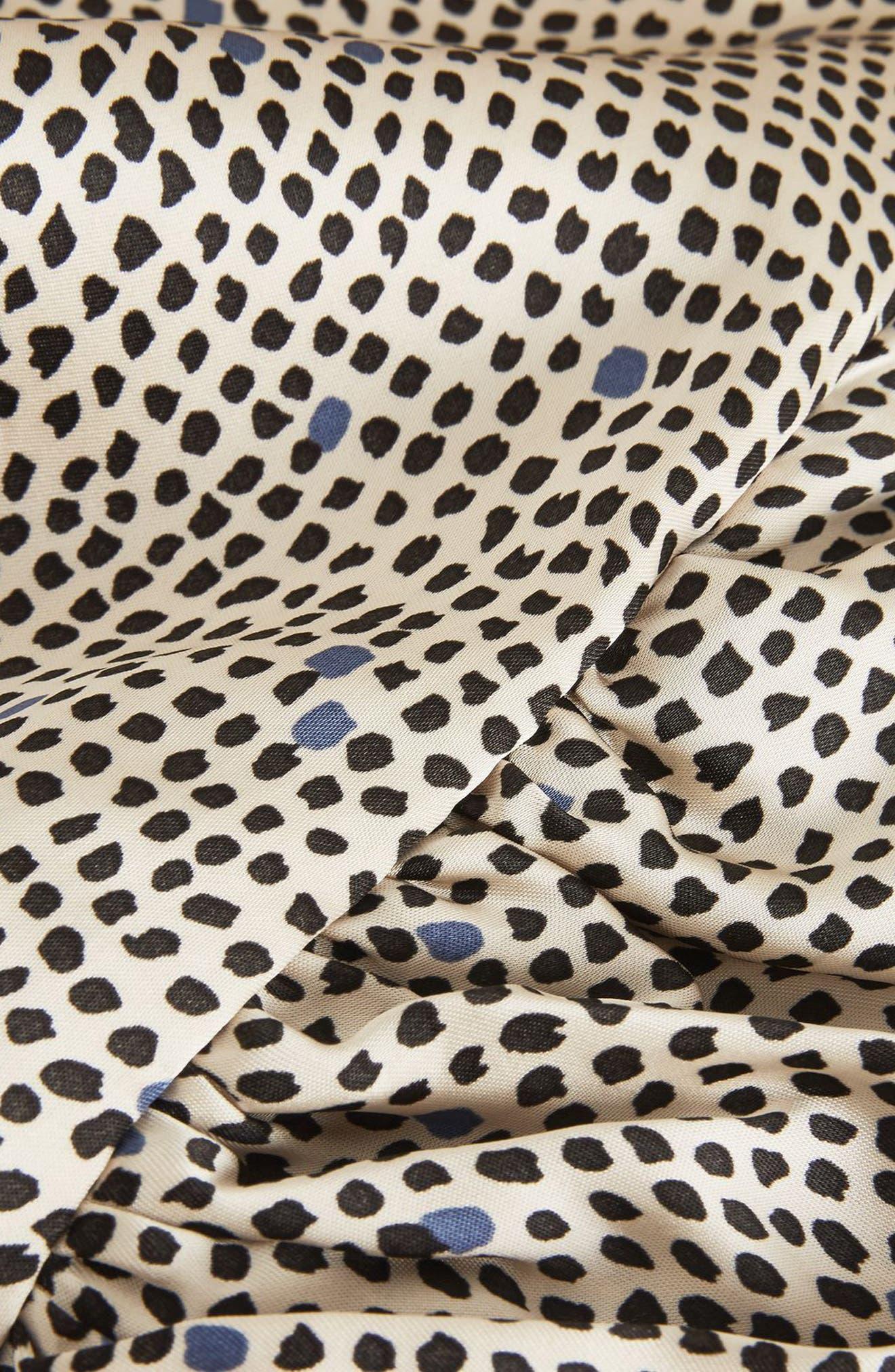 Mini Spot Wrap Dress,                             Alternate thumbnail 2, color,                             Beige Multi