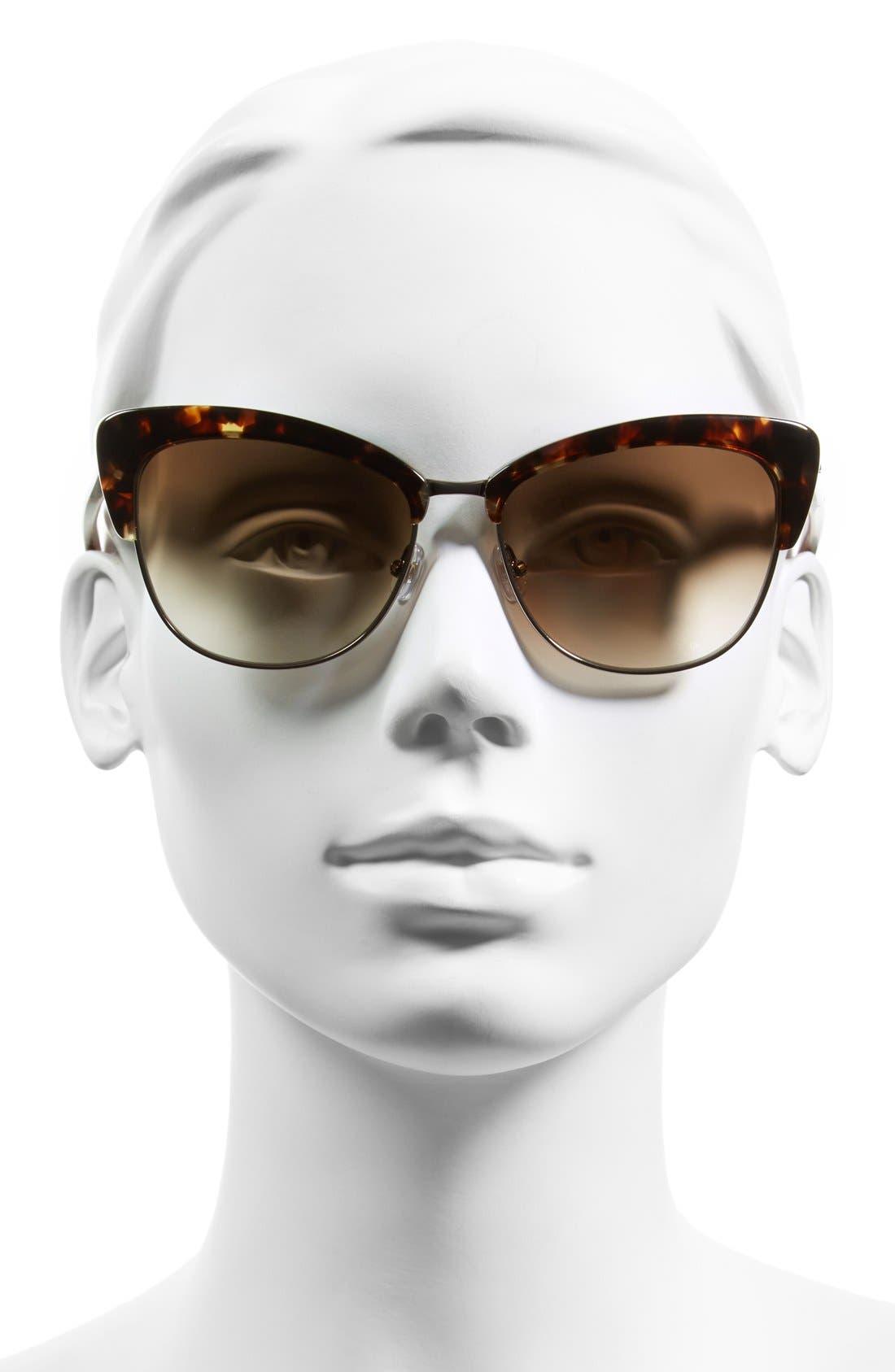 Alternate Image 2  - kate spade new york 'genette' 56mm cat eye sunglasses