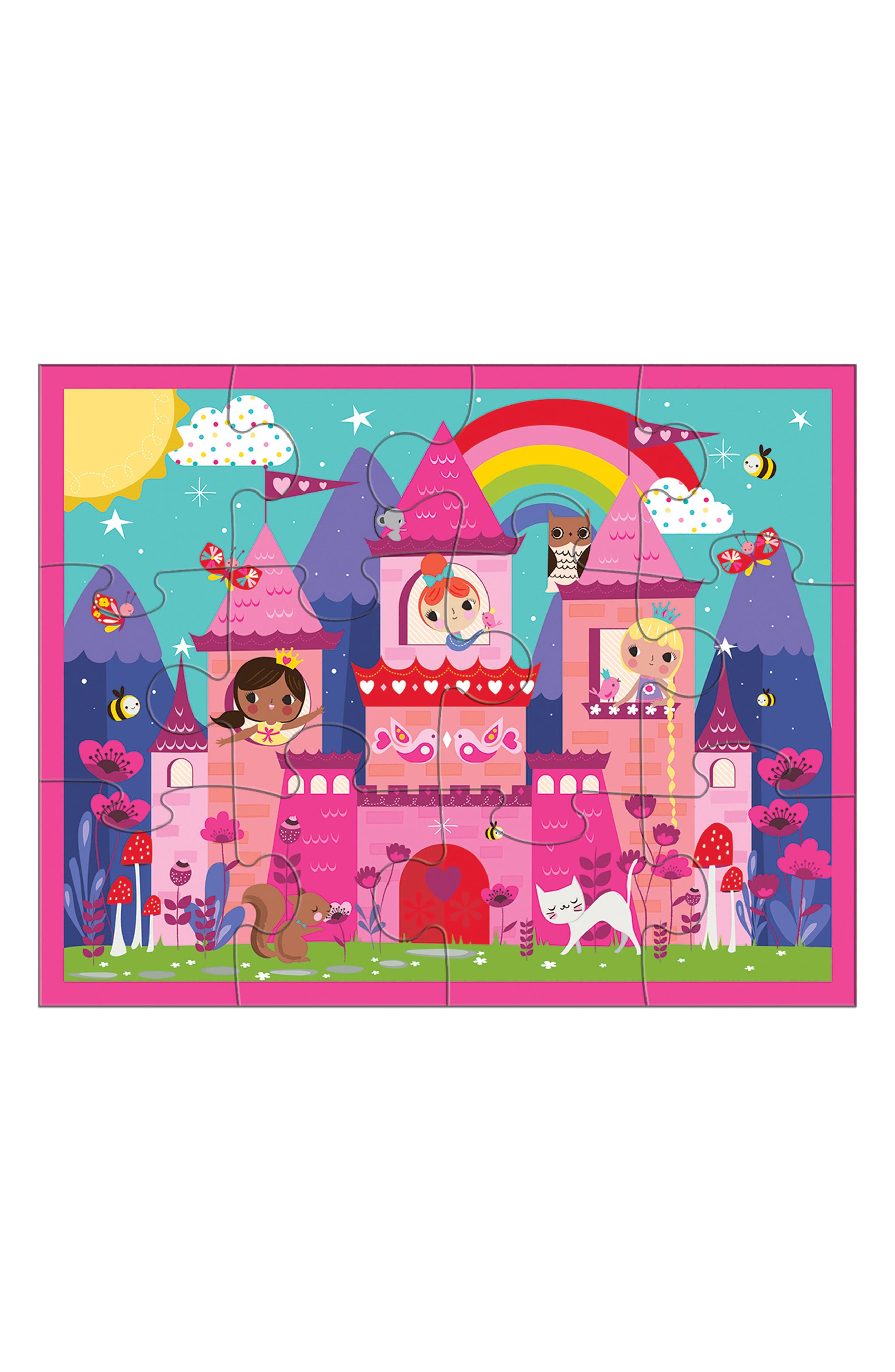Chronicle Books Princess Castle 12-Piece Travel Pouch Puzzle