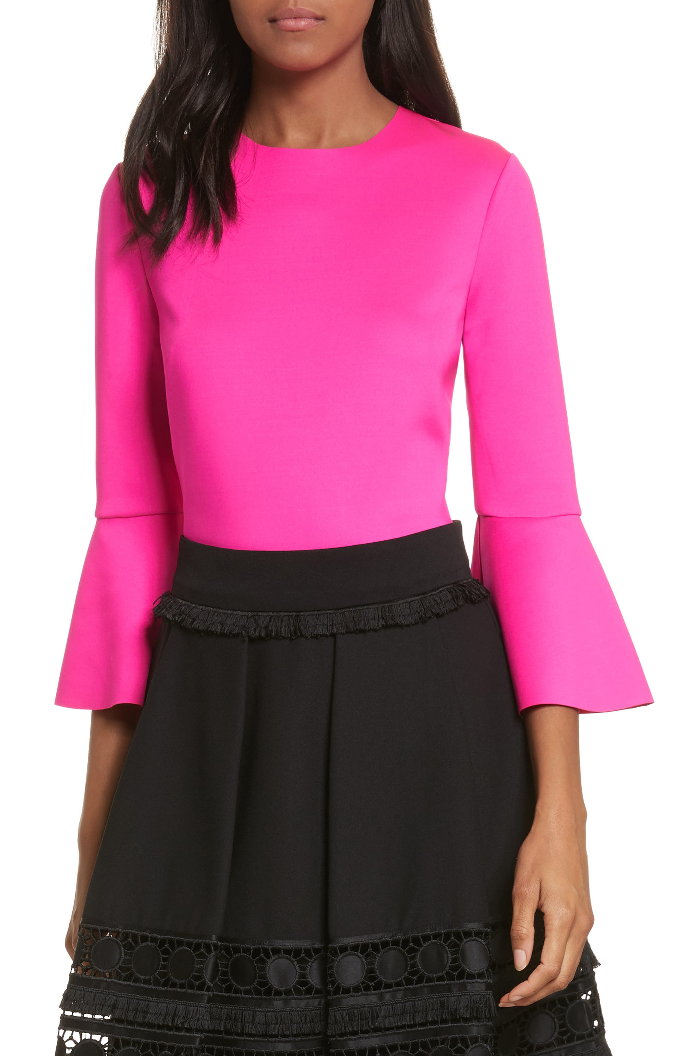 Ted Baker London Bell Sleeve Stretch Top