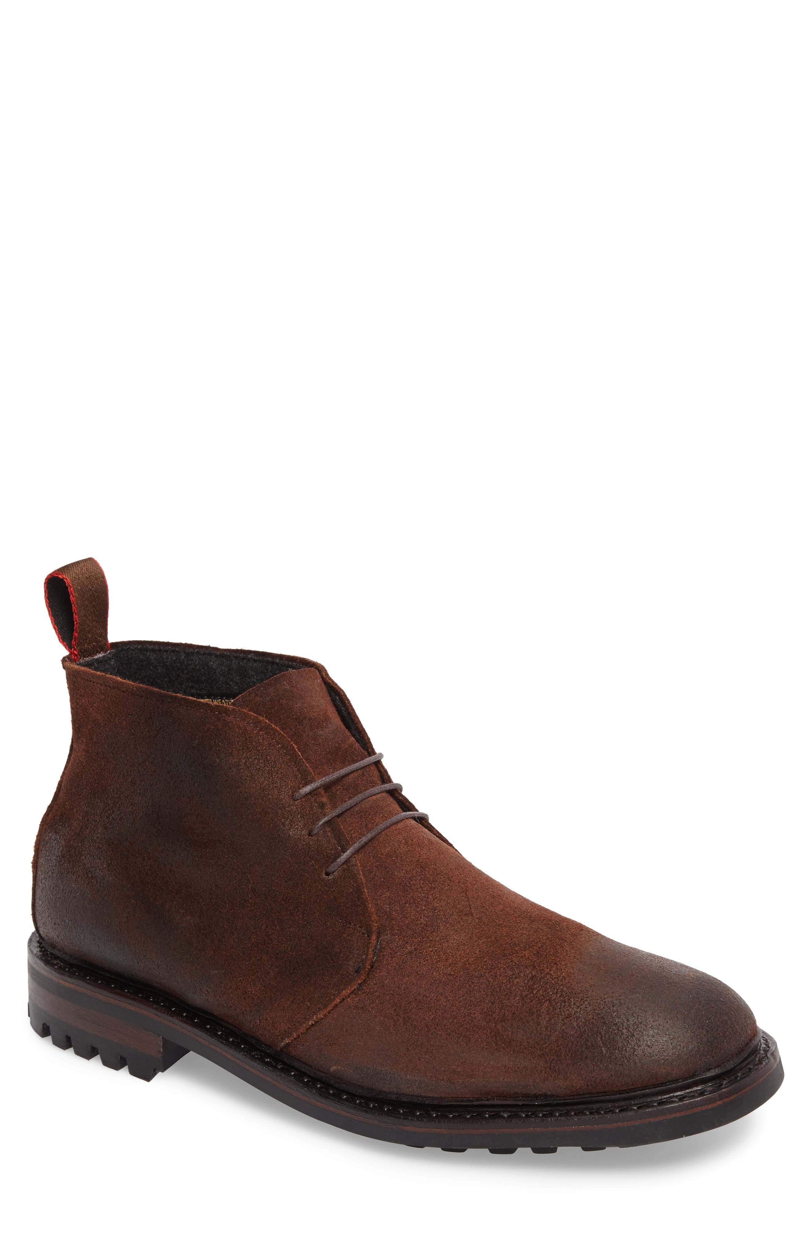Surrey Water Repellent Chukka Boot,                             Main thumbnail 1, color,                             Brown Leather