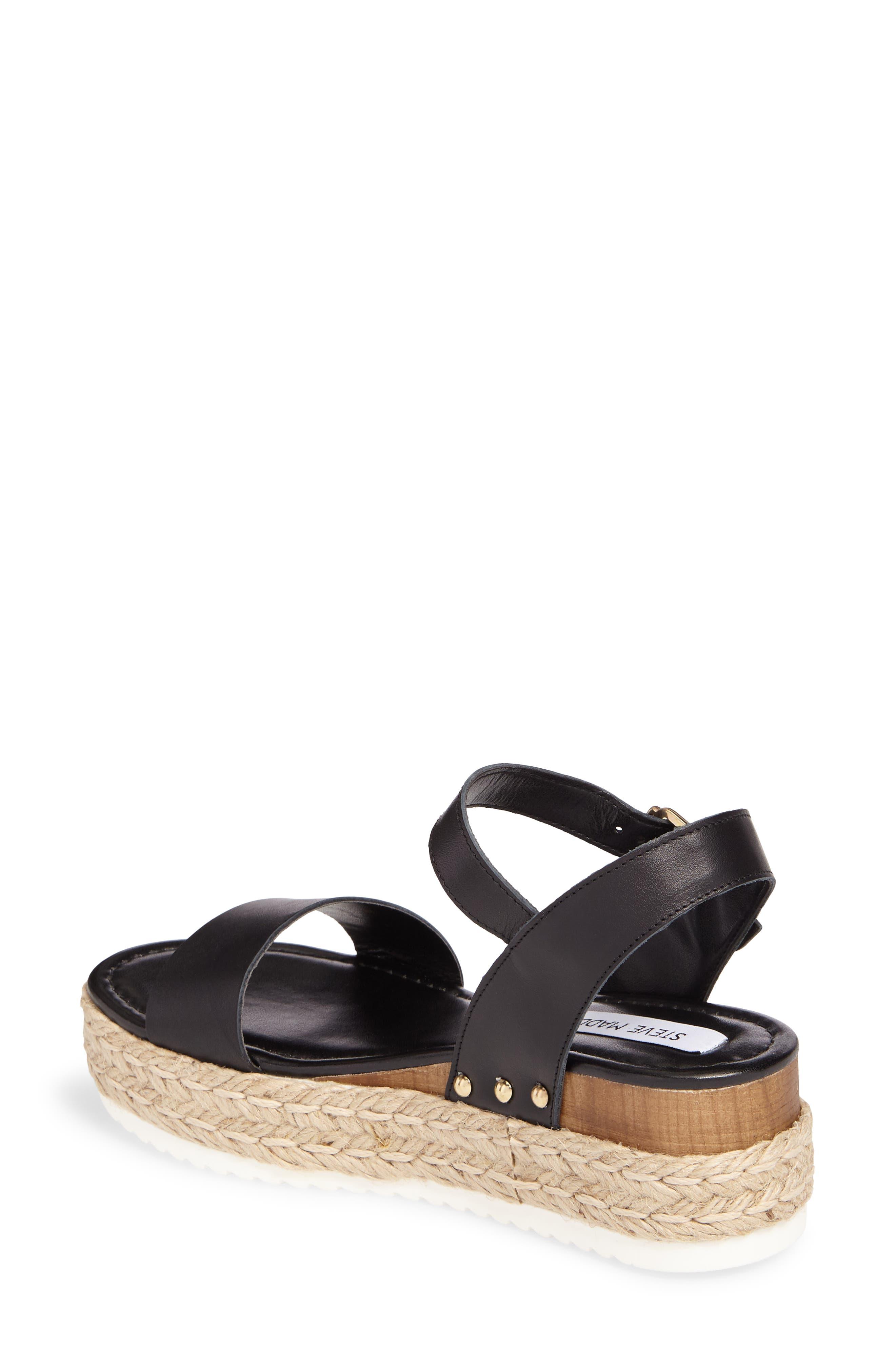 Chiara Platform Espadrille Sandal,                             Alternate thumbnail 2, color,                             Black Leather