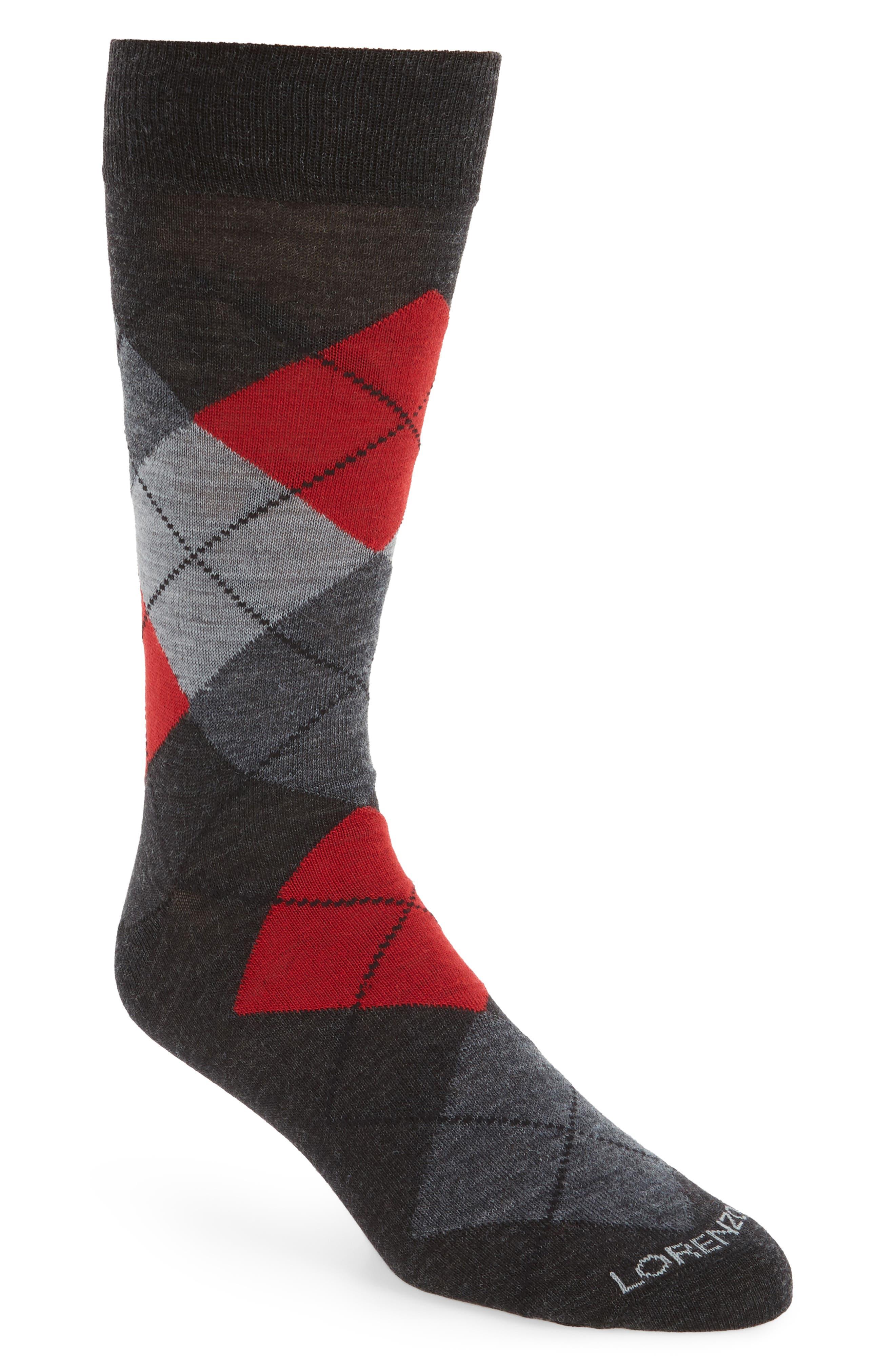 Argyle Socks,                         Main,                         color, Charcoal