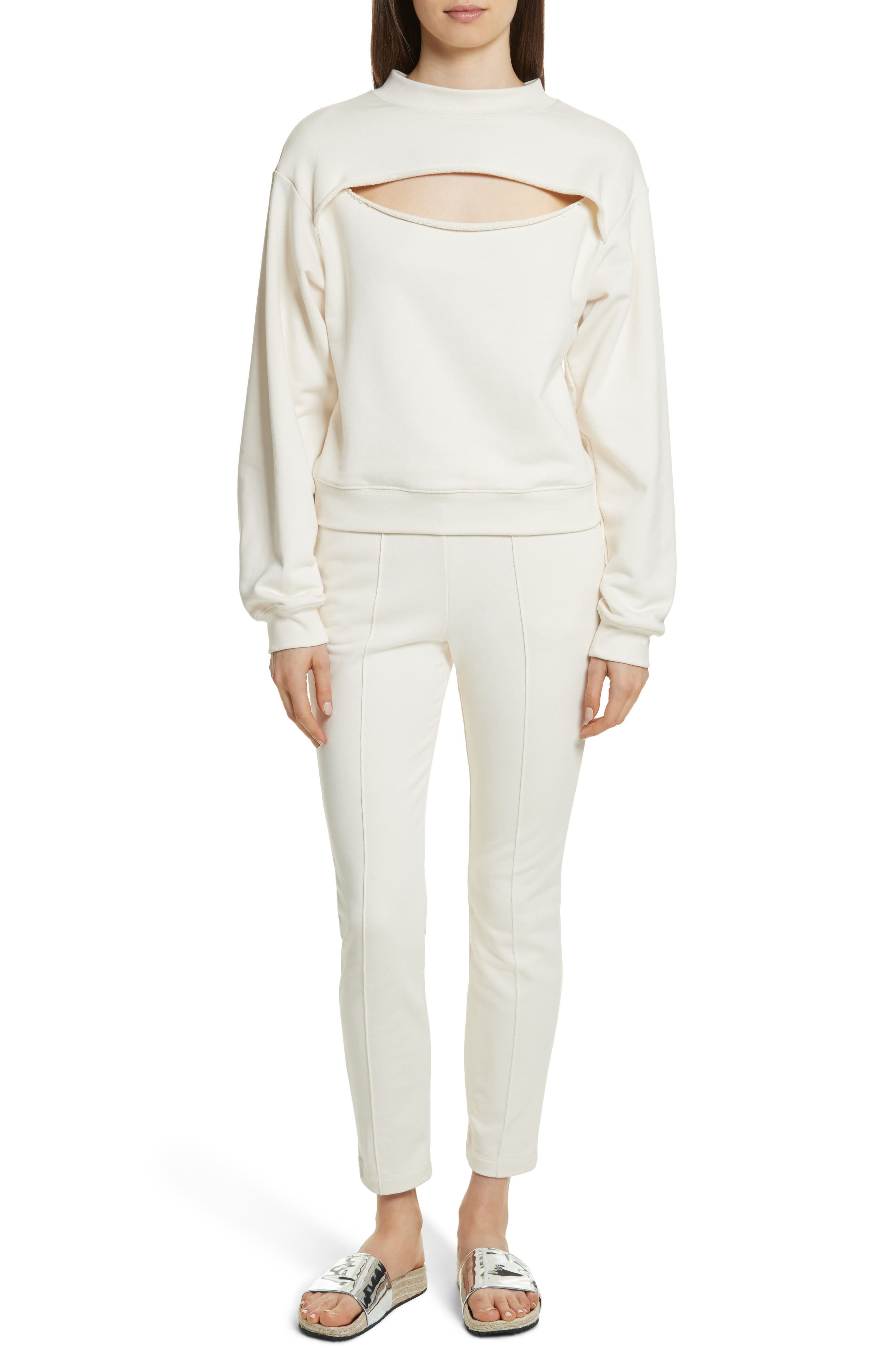 Alternate Image 7  - T by Alexander Wang Slit Front French Terry Top