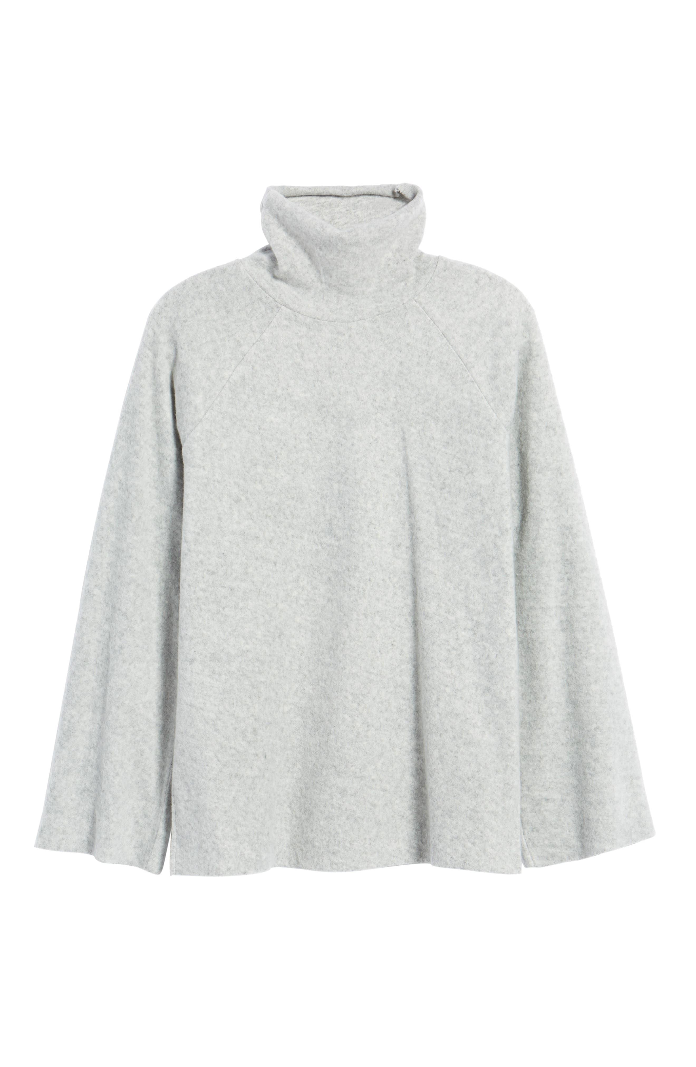 Bell Sleeve Sweatshirt,                             Alternate thumbnail 6, color,                             Grey Heather
