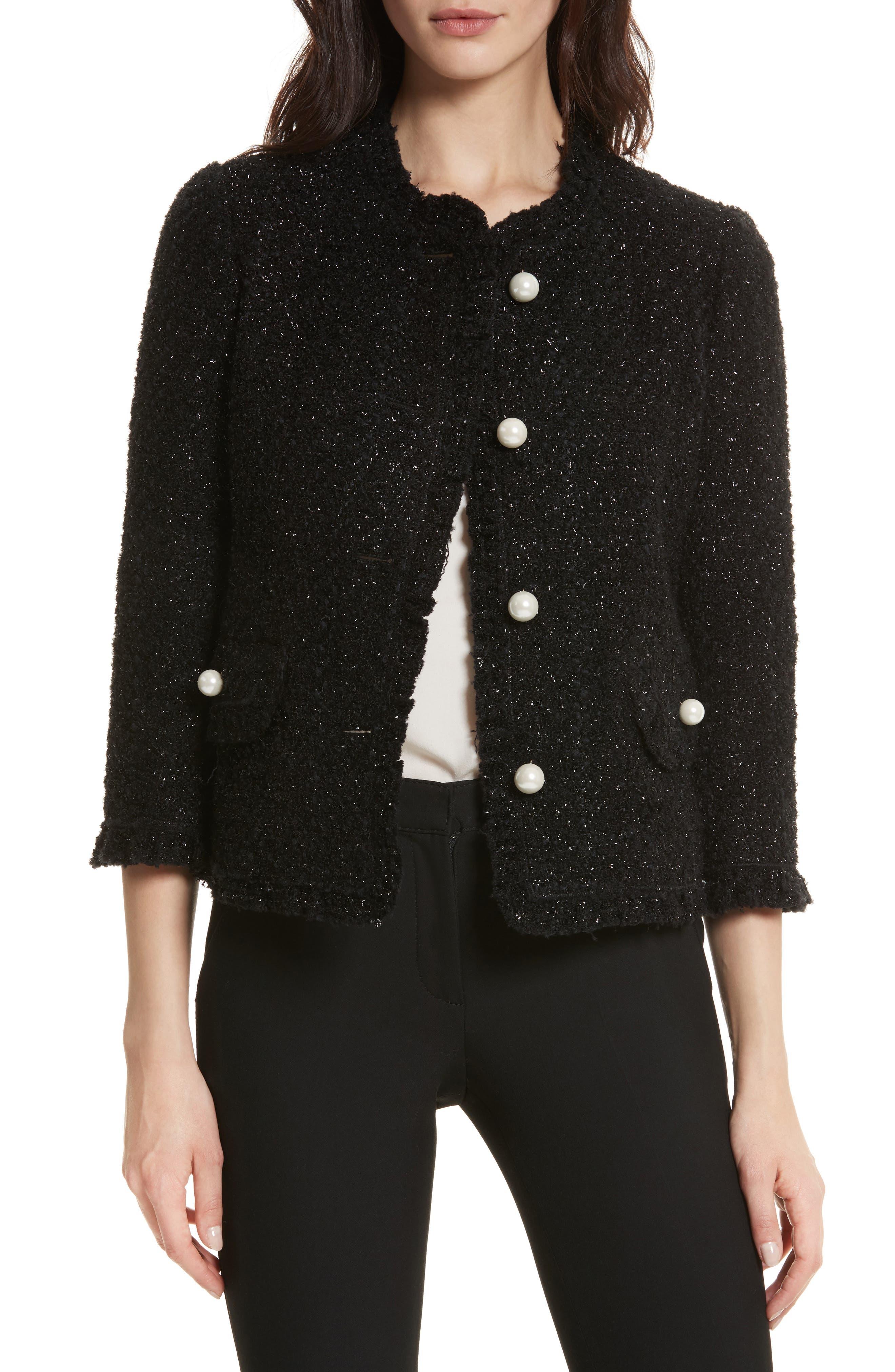 kate spade new york sparkle tweed jacket