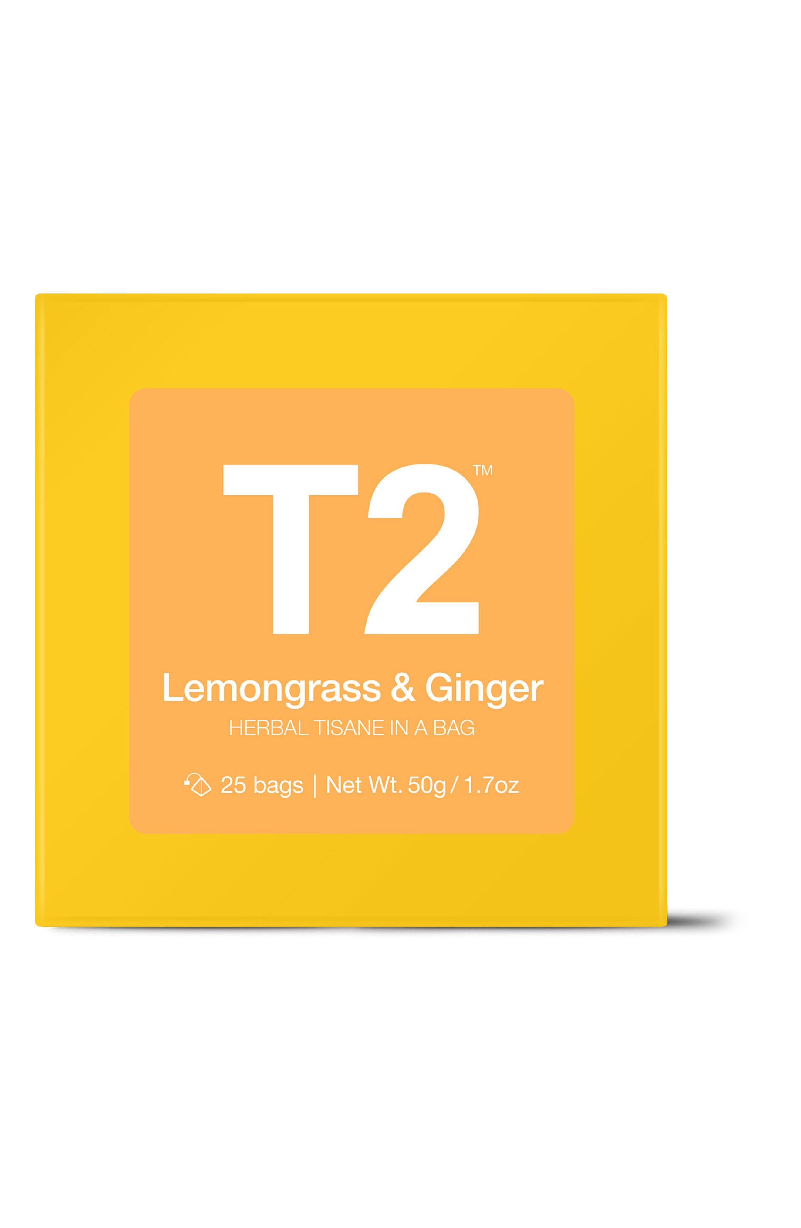 T2 Lemongrass & Ginger Tea Bags,                         Main,                         color, Multi