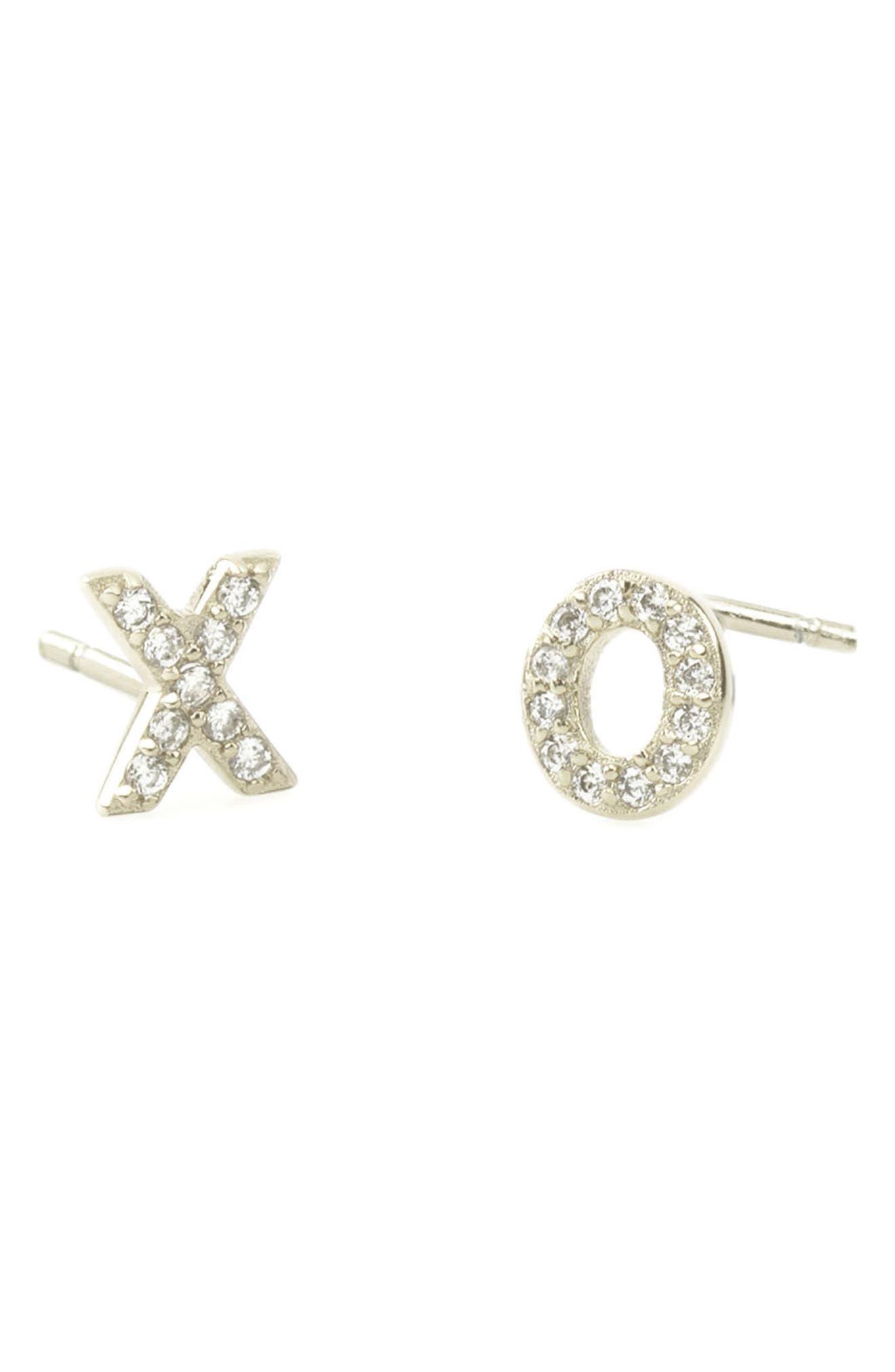 Main Image - Kris Nations Pavé XO Stud Earrings
