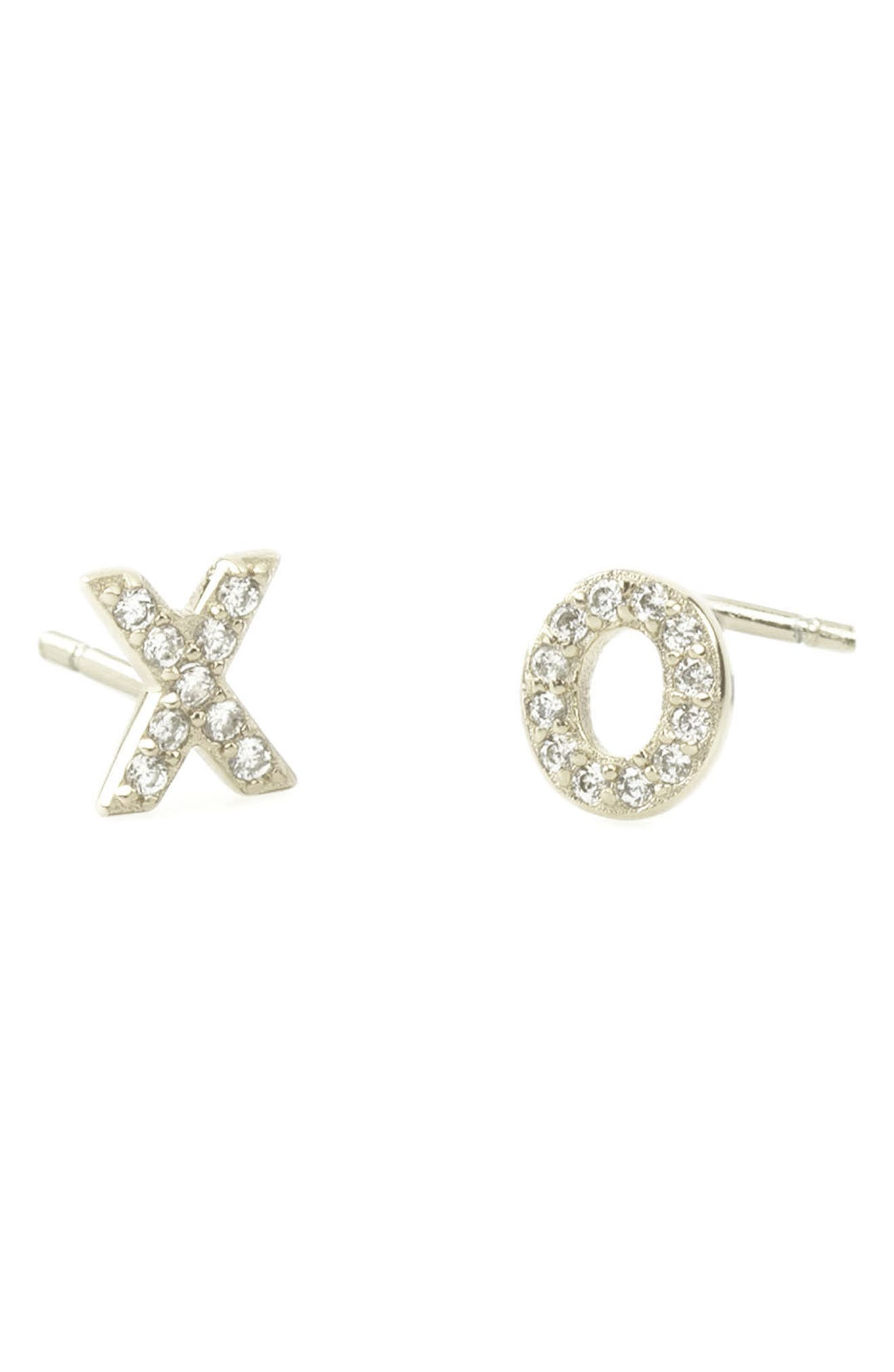 Kris Nations Pavé XO Stud Earrings