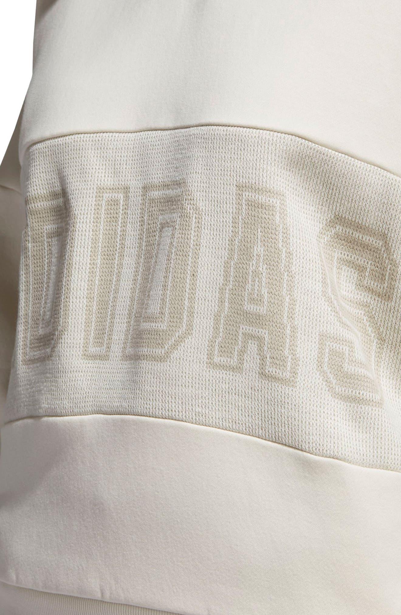 Originals Adibreak Sweatshirt,                             Alternate thumbnail 5, color,                             Chalk White/ Chalk White