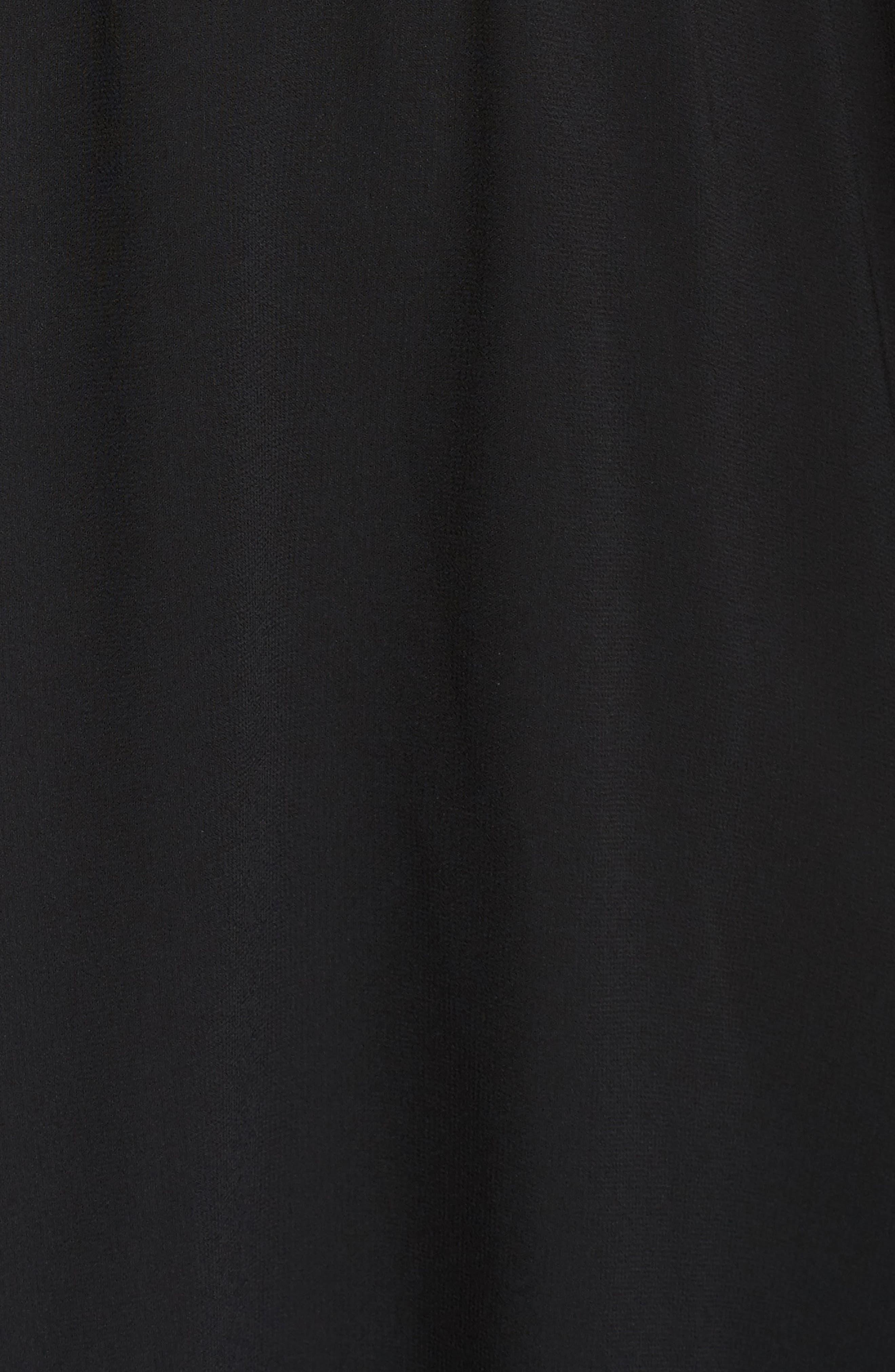 Handkerchief Hem Dress,                             Alternate thumbnail 5, color,                             Black