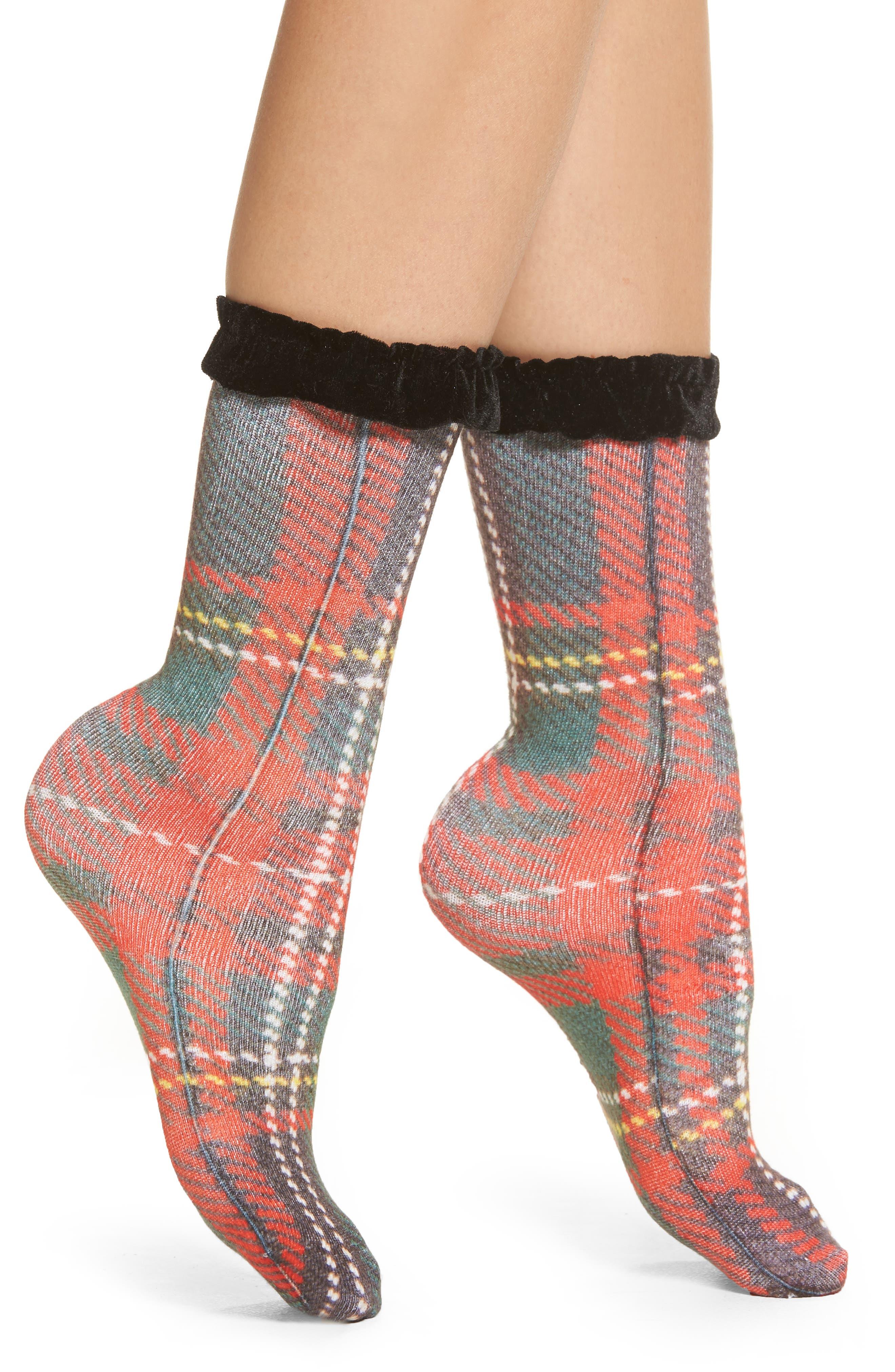 Capelli New York Tartan Plaid Socks