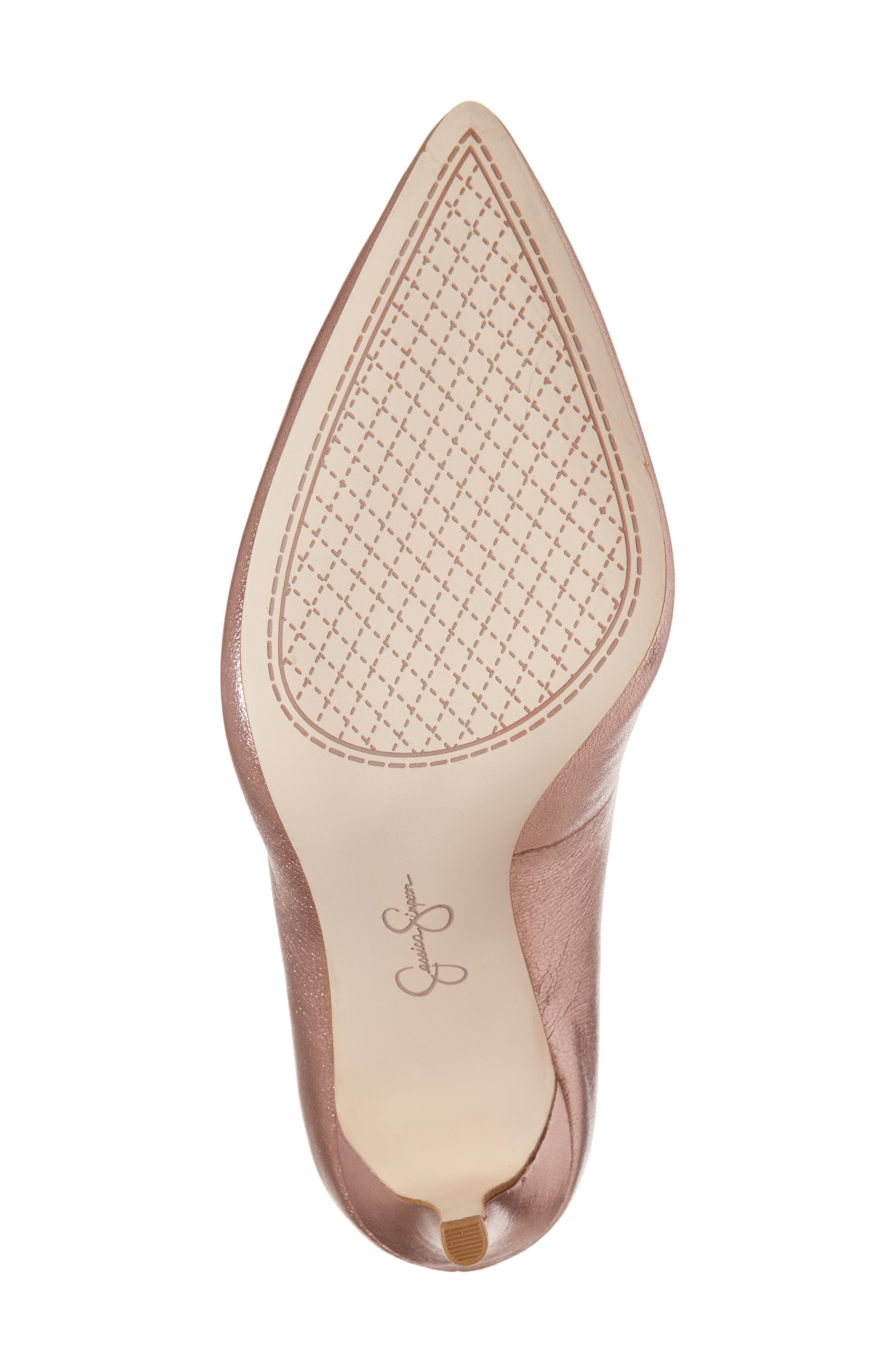 Praylee Pointy Toe Pump,                             Alternate thumbnail 6, color,                             Dolly Pink Leather