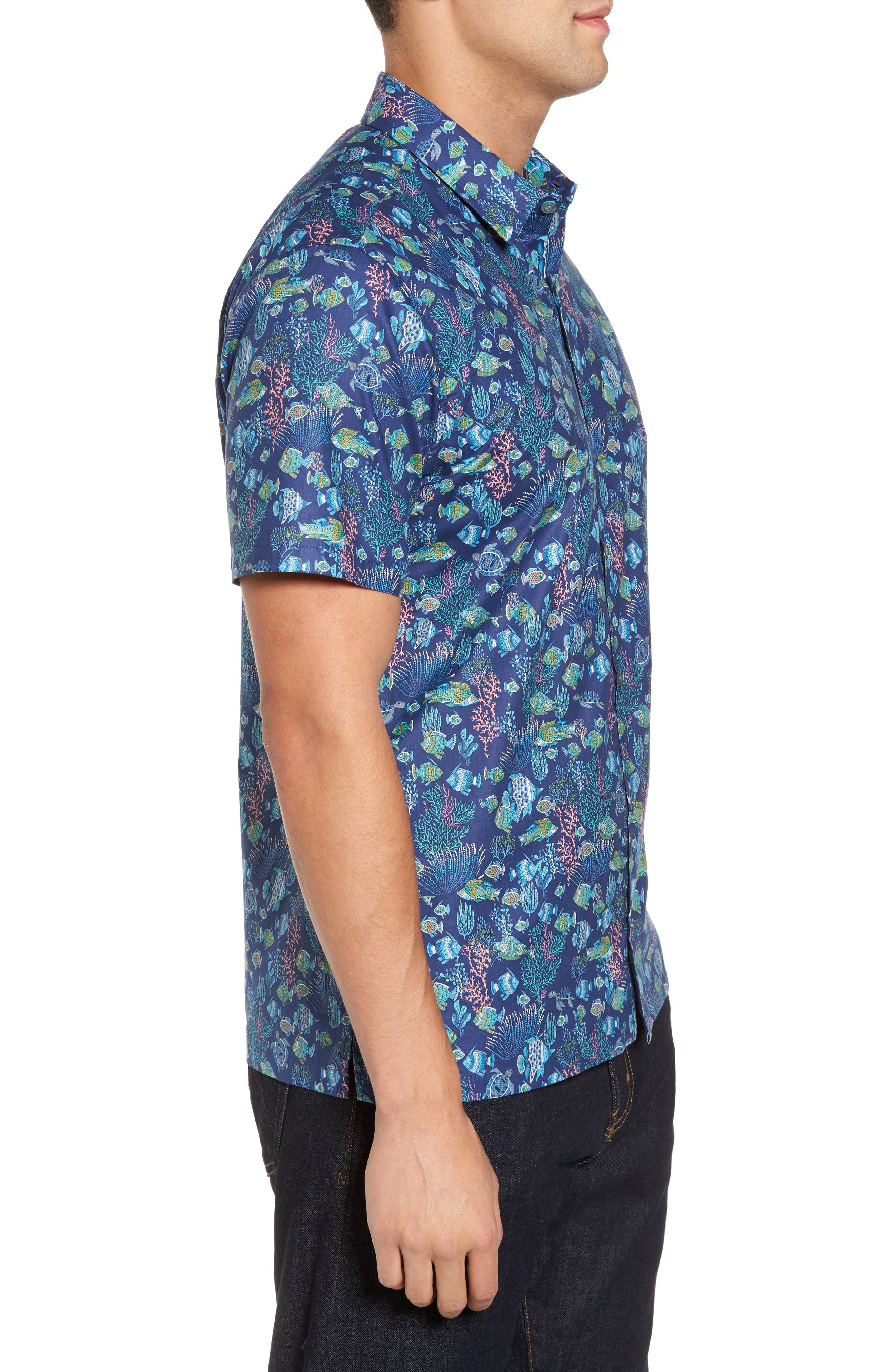 Alternate Image 3  - Tori Richard Aquaculture Slim Fit Camp Shirt