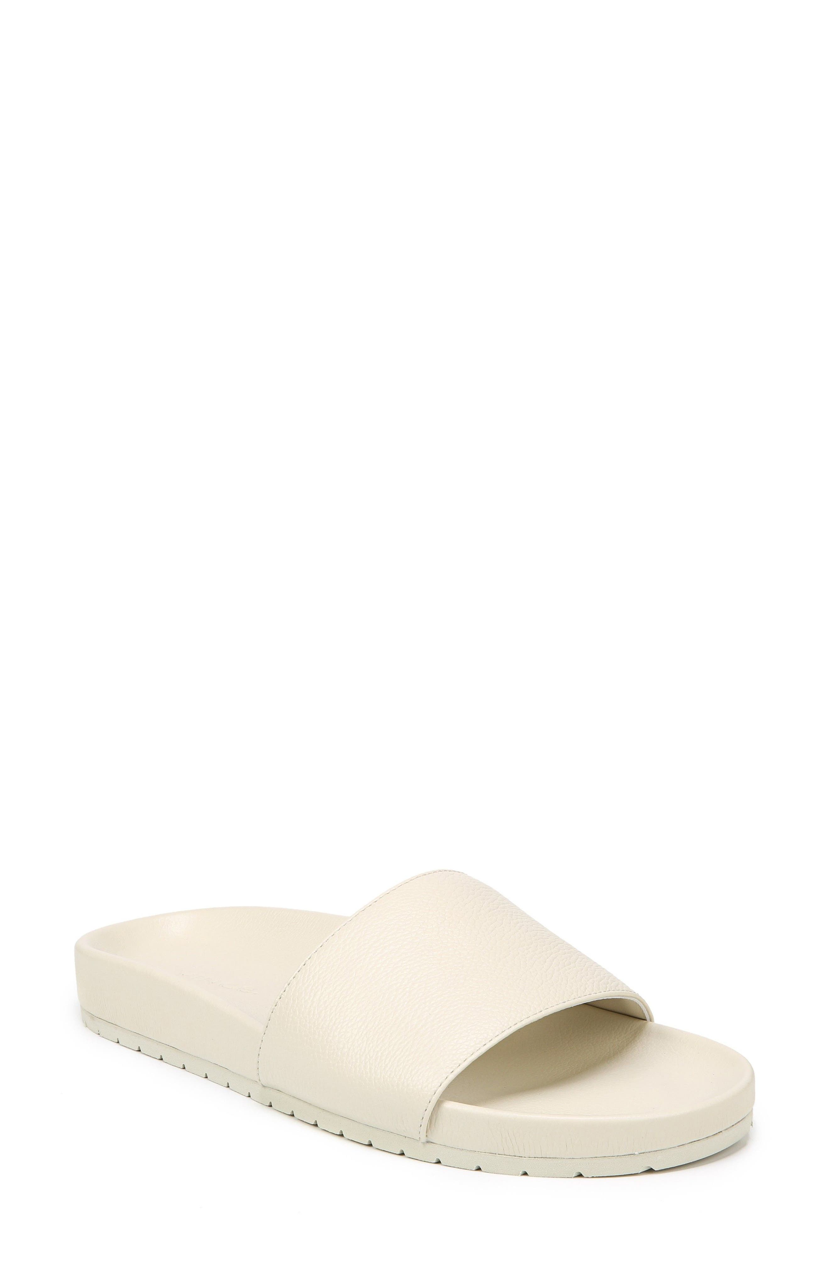 Gavin Slide Sandal,                         Main,                         color, Ecru