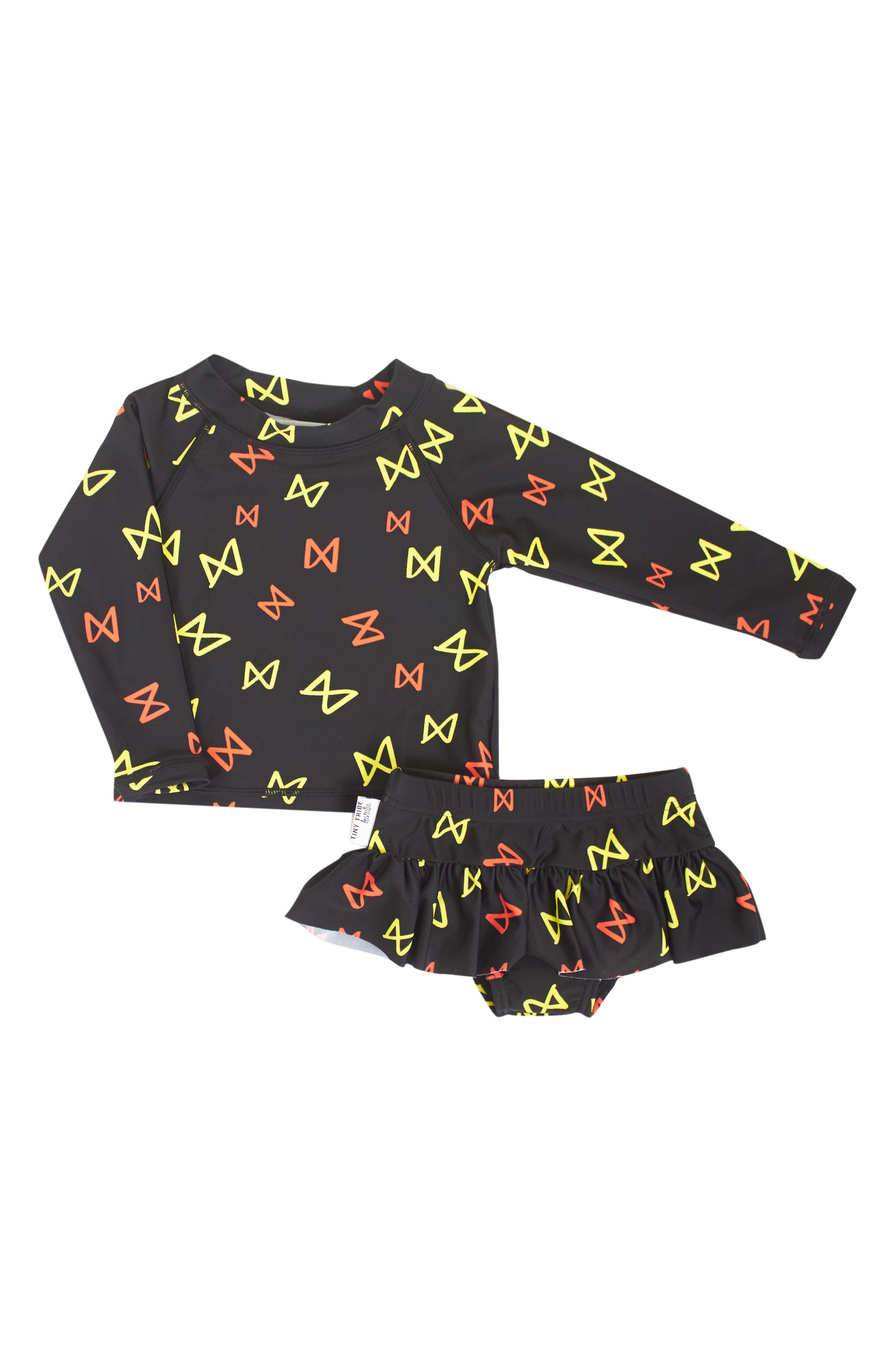 Tiny Tribe Two-Piece Rashguard Swimsuit (Baby Girls & Toddler Girls)