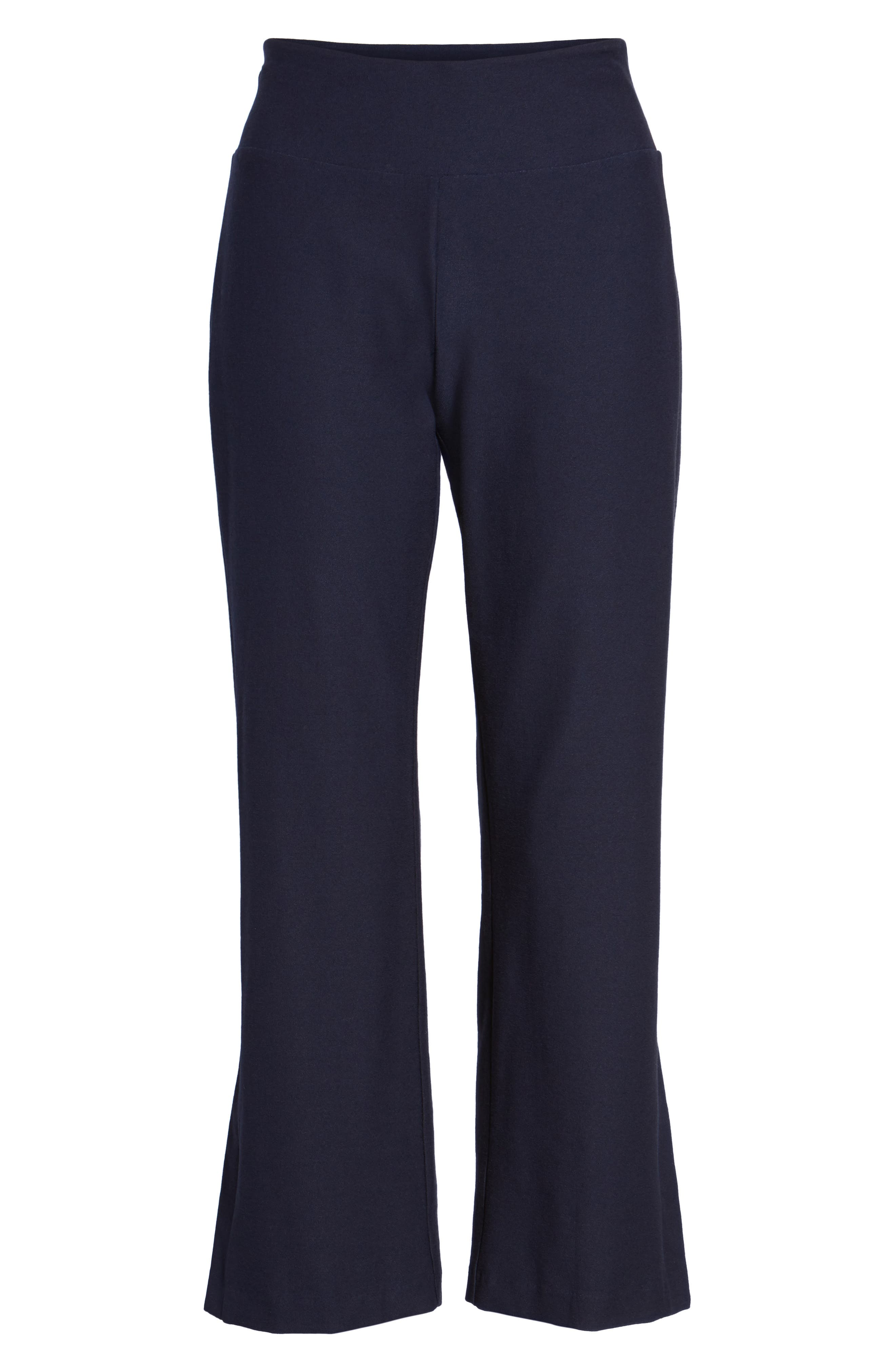 Bootcut Crop Pants,                             Alternate thumbnail 7, color,                             Midnight