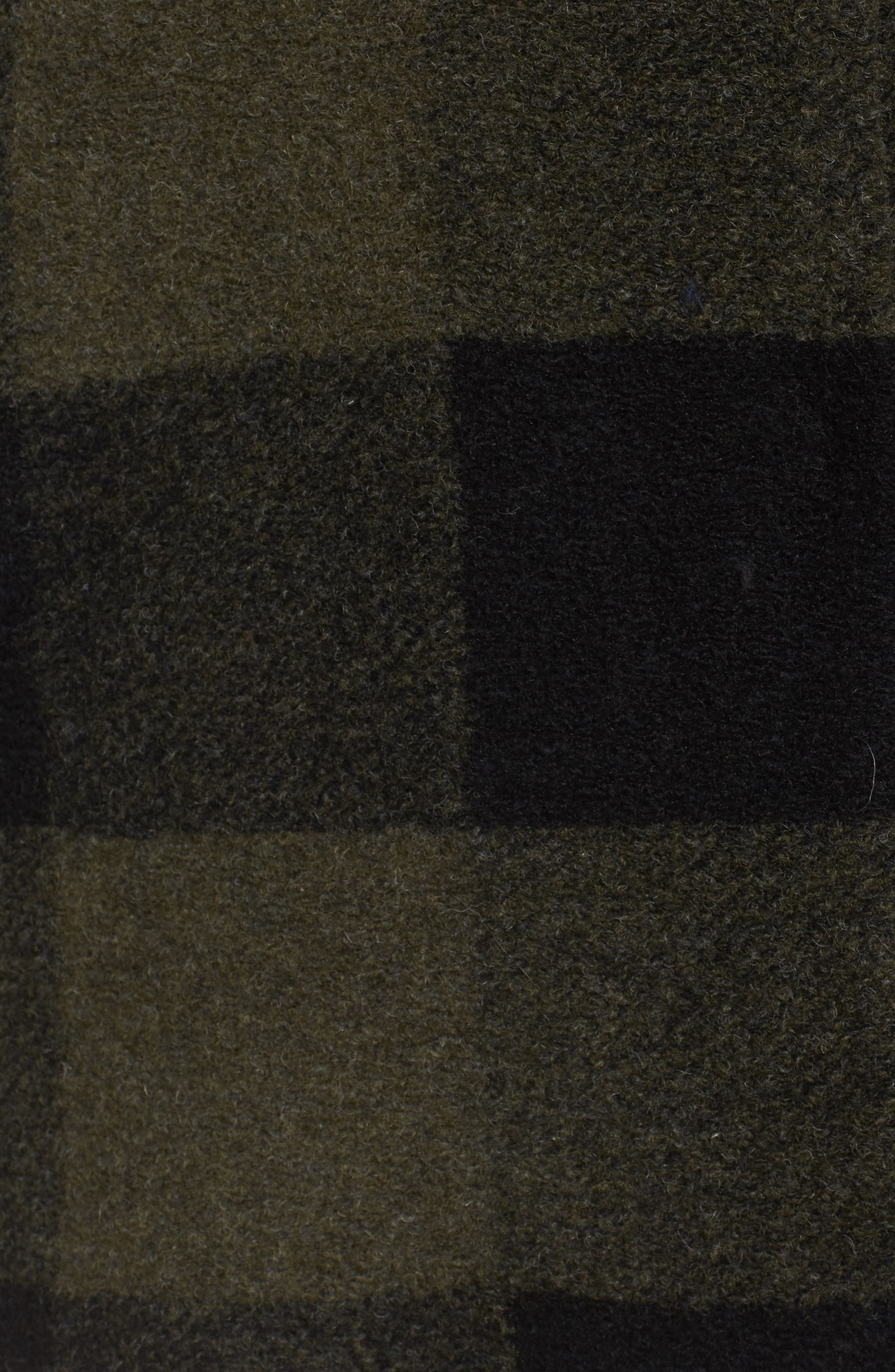Paul Bunyan Plaid Wool Blend Barn Coat,                             Alternate thumbnail 5, color,                             Olive/ Buff