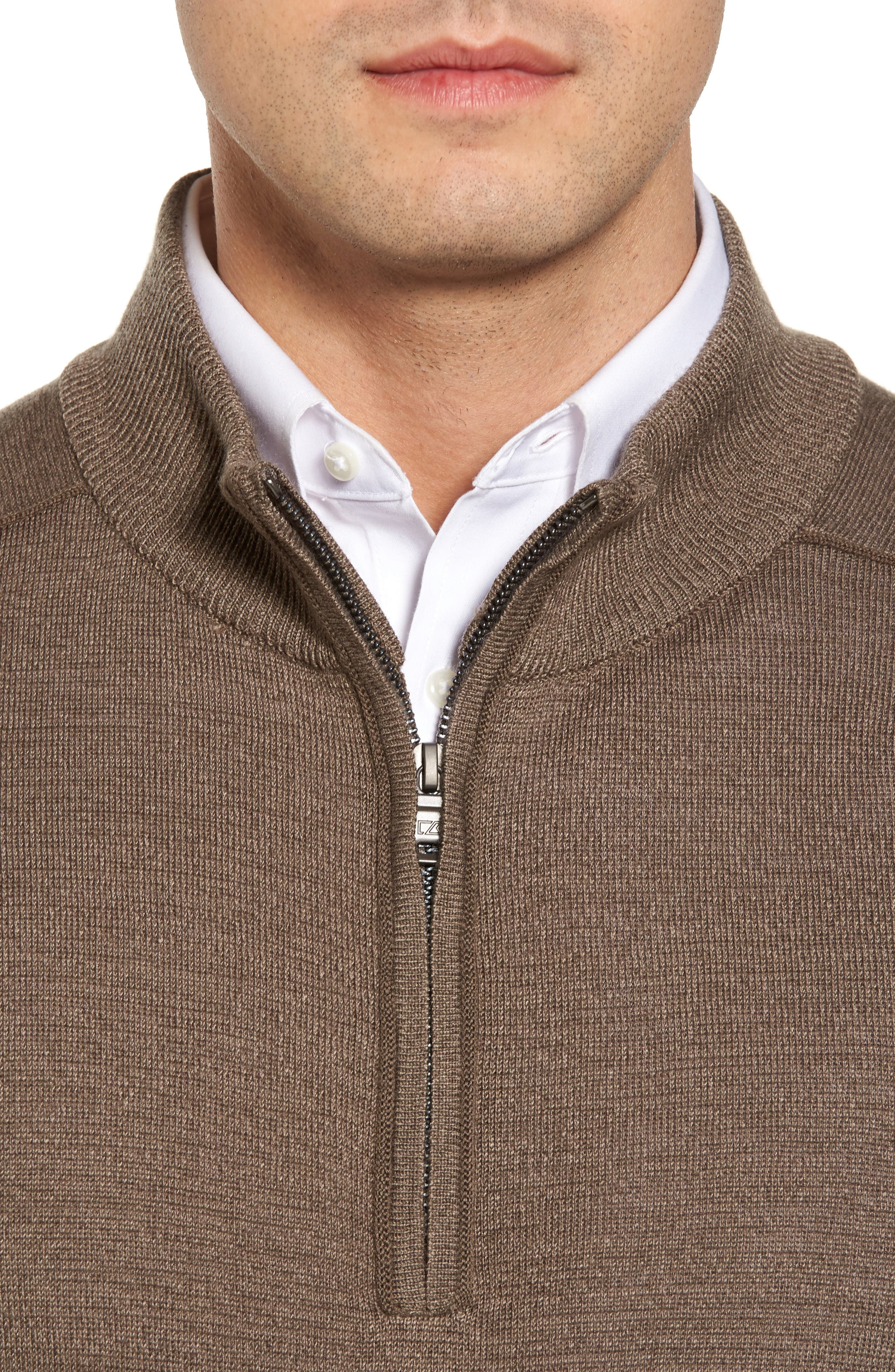Henry Quarter-Zip Pullover Sweater,                             Alternate thumbnail 4, color,                             Twig