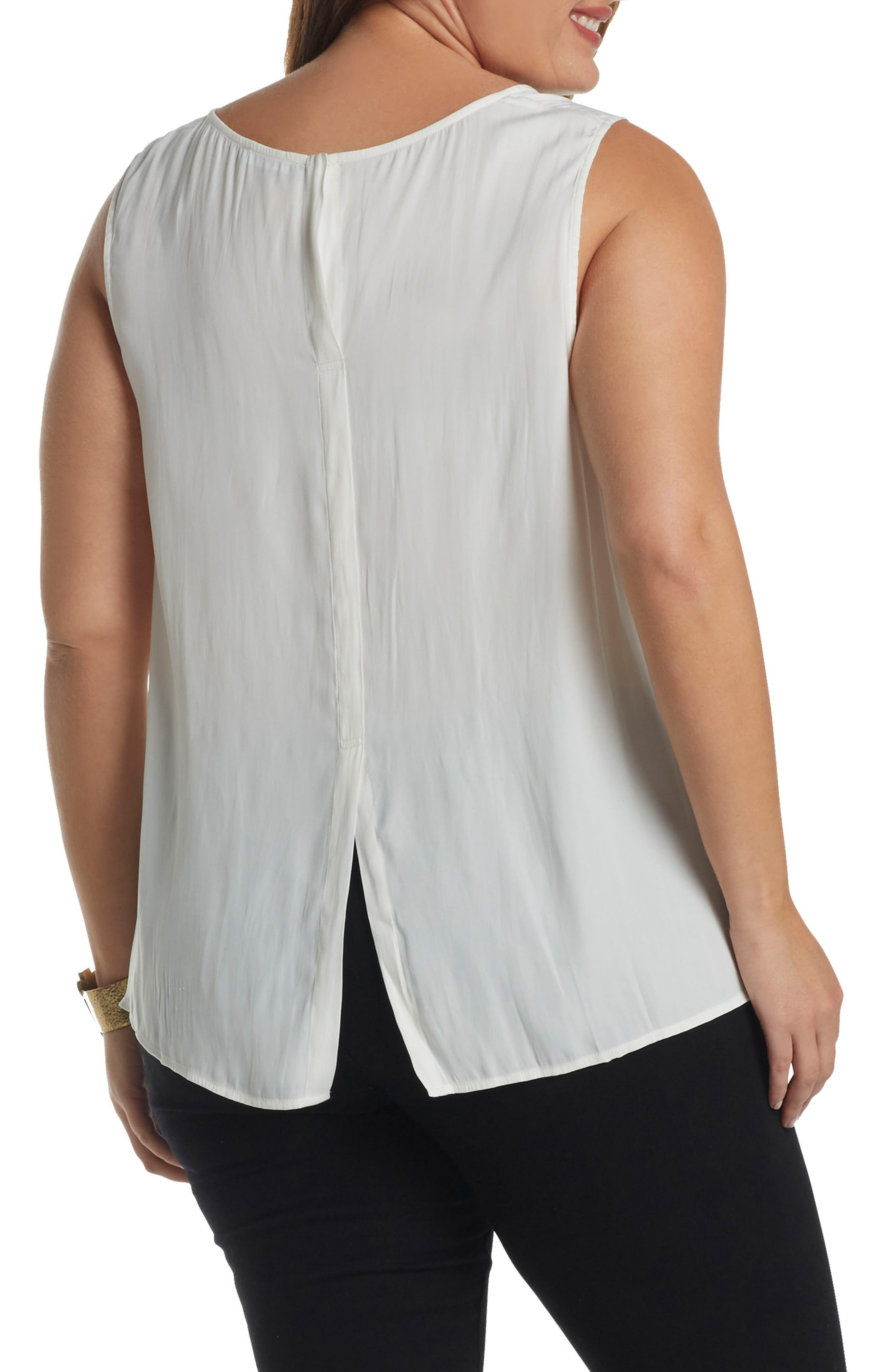 Angelle Sleeveless Top,                             Alternate thumbnail 2, color,                             Gardenia