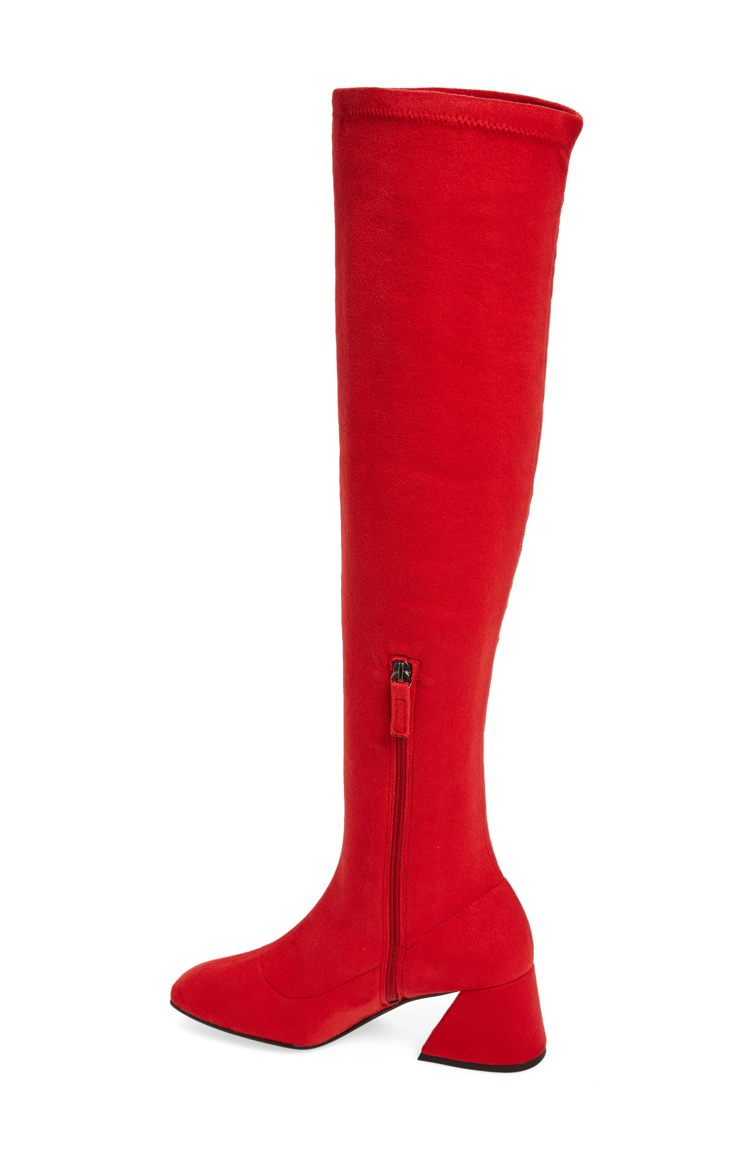 Cappuccino Over the Knee Boot,                             Alternate thumbnail 2, color,                             Red