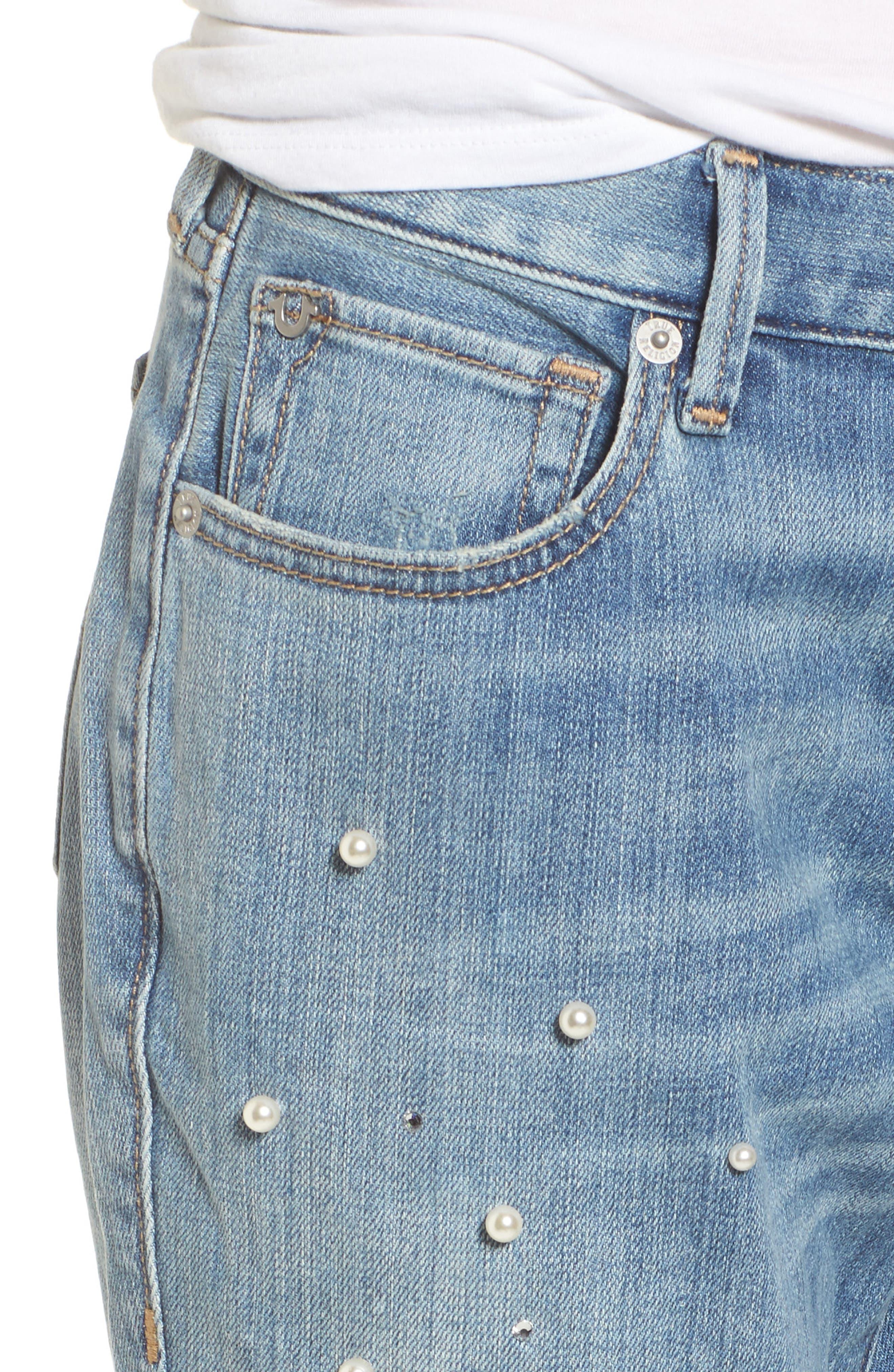 Cameron Slim Boyfriend Jeans,                             Alternate thumbnail 4, color,                             Slip Away