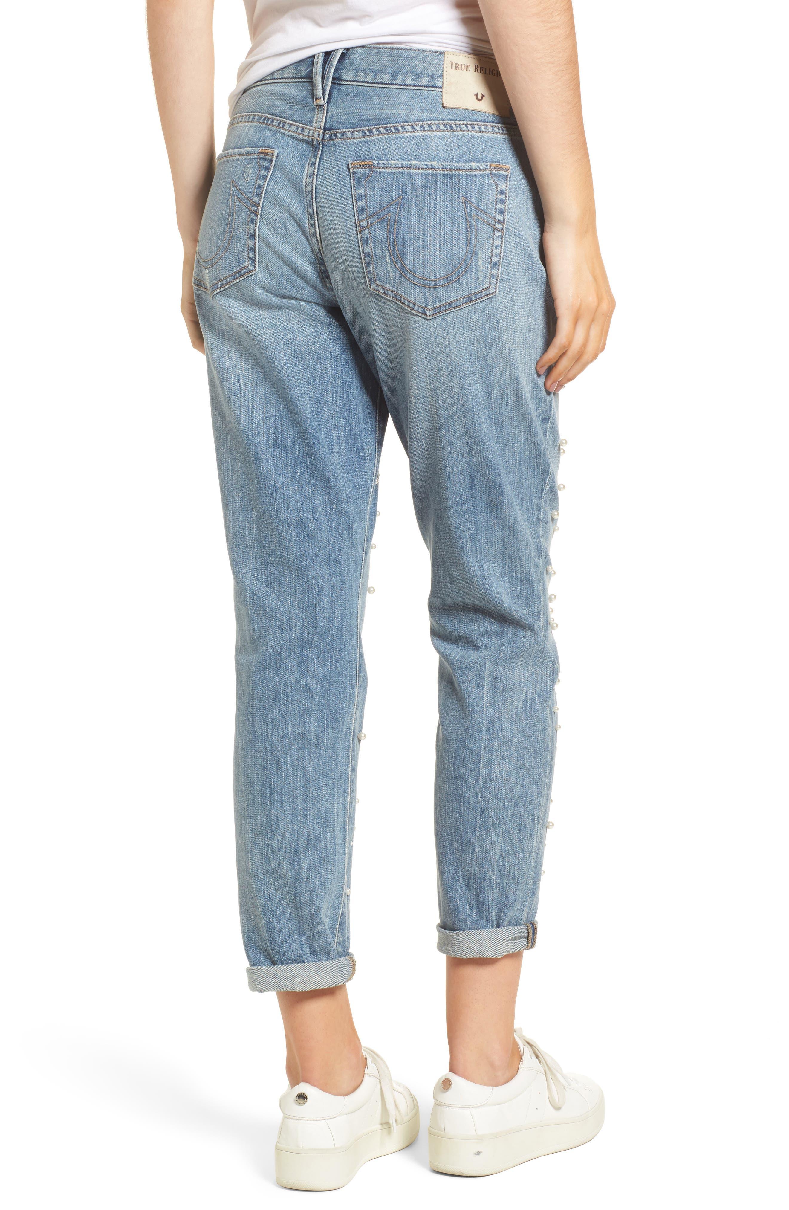 Cameron Slim Boyfriend Jeans,                             Alternate thumbnail 2, color,                             Slip Away