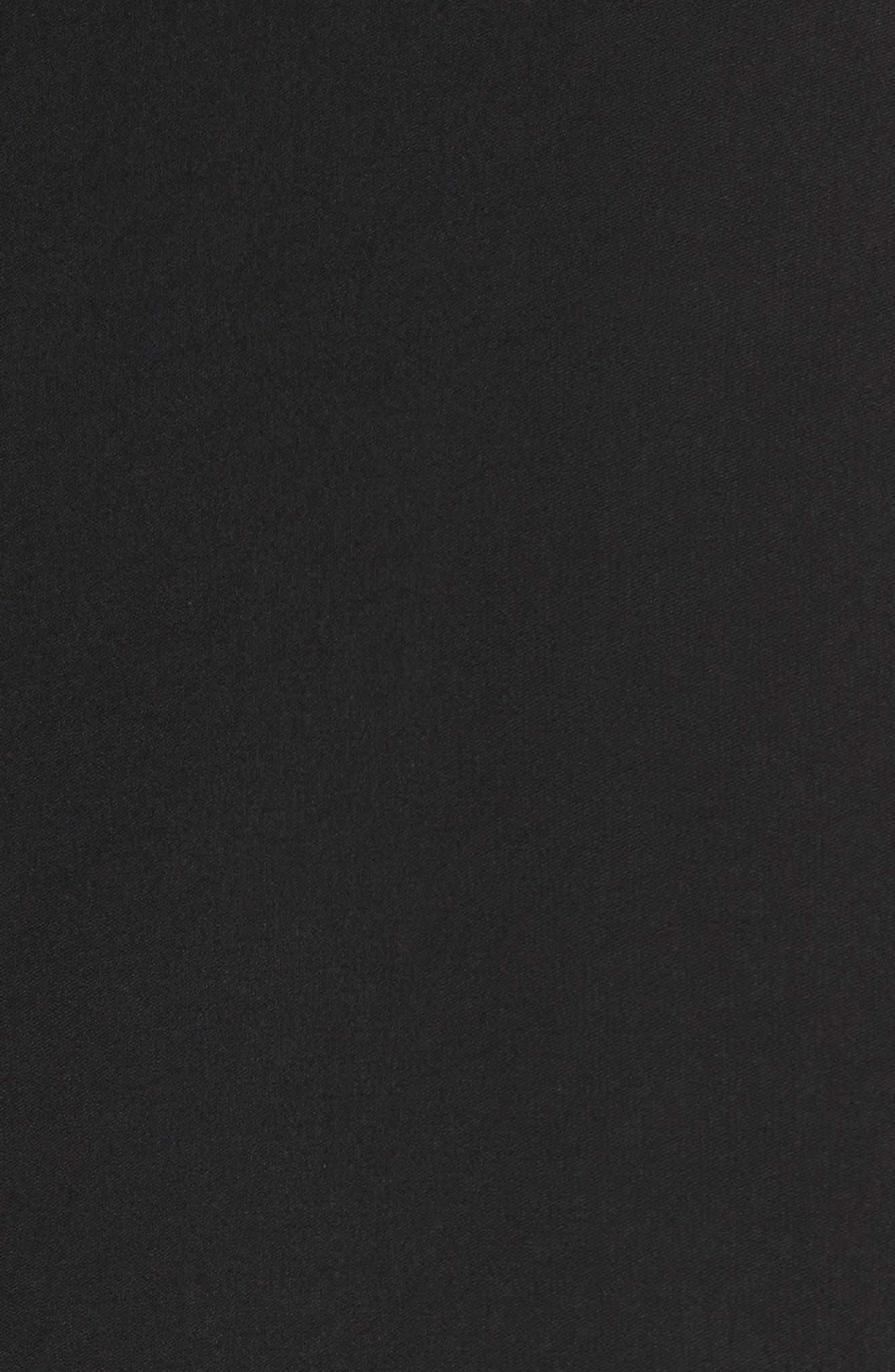 Roll Sleeve Tee,                             Alternate thumbnail 5, color,                             Black/ White