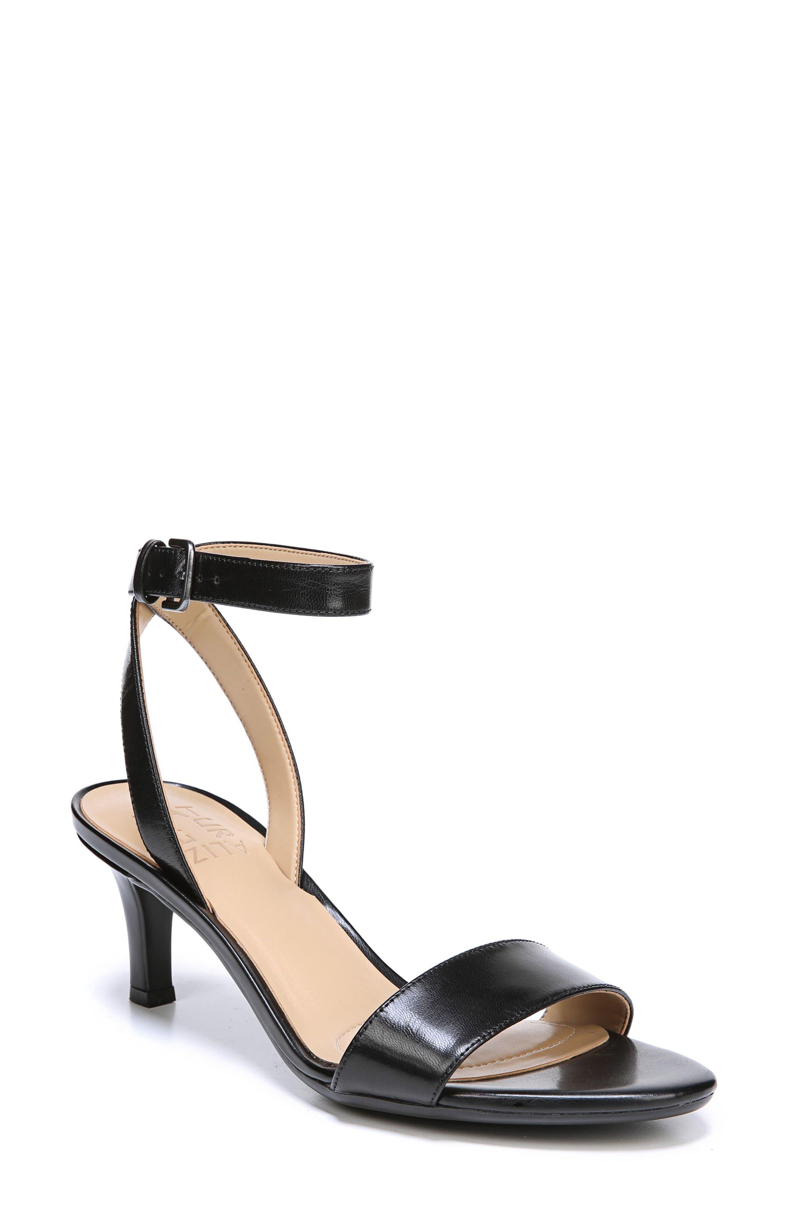 Tinda Sandal,                         Main,                         color, Black Leather
