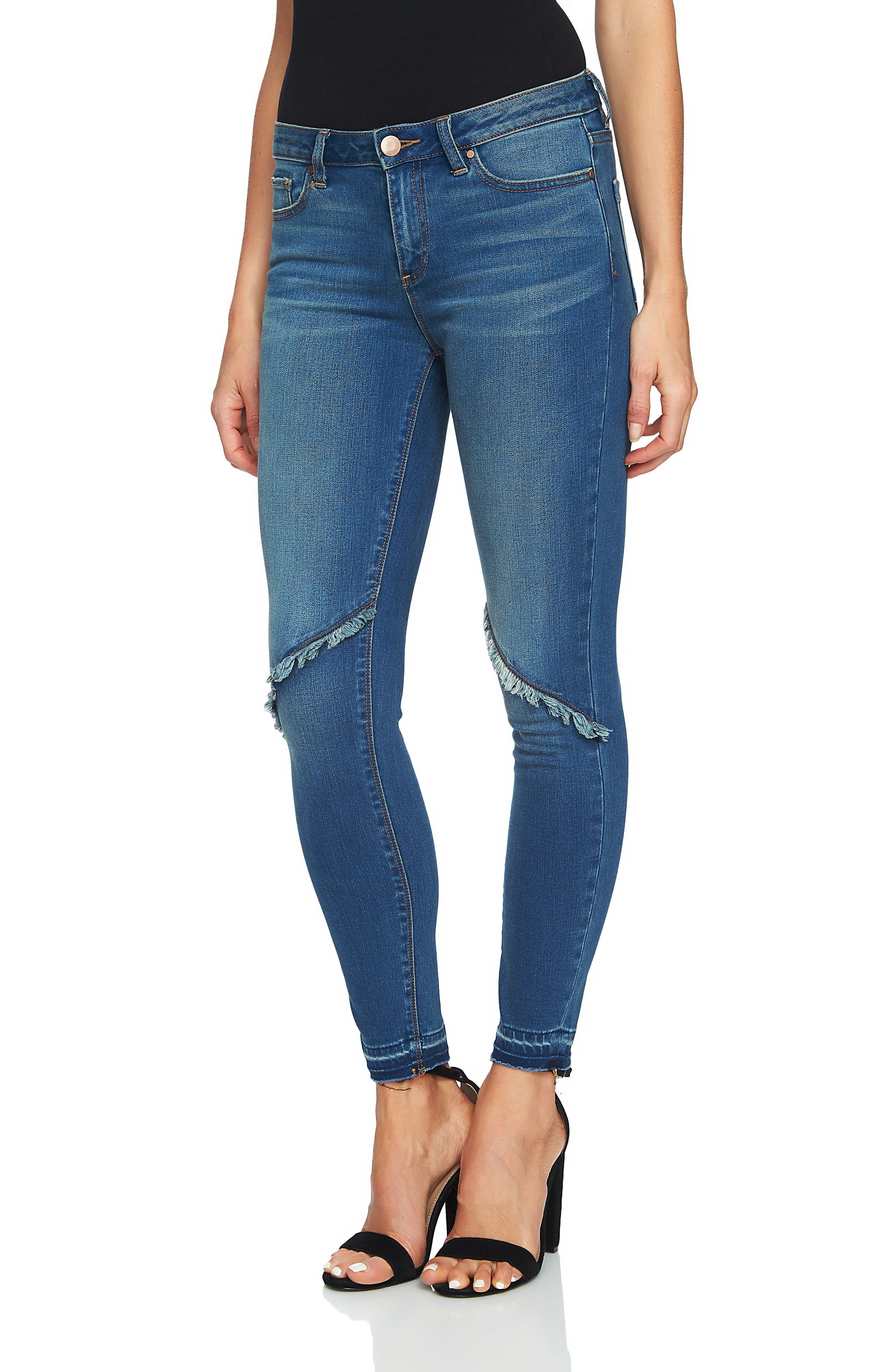 Ankle Skinny Jeans,                         Main,                         color, Mid Authentic