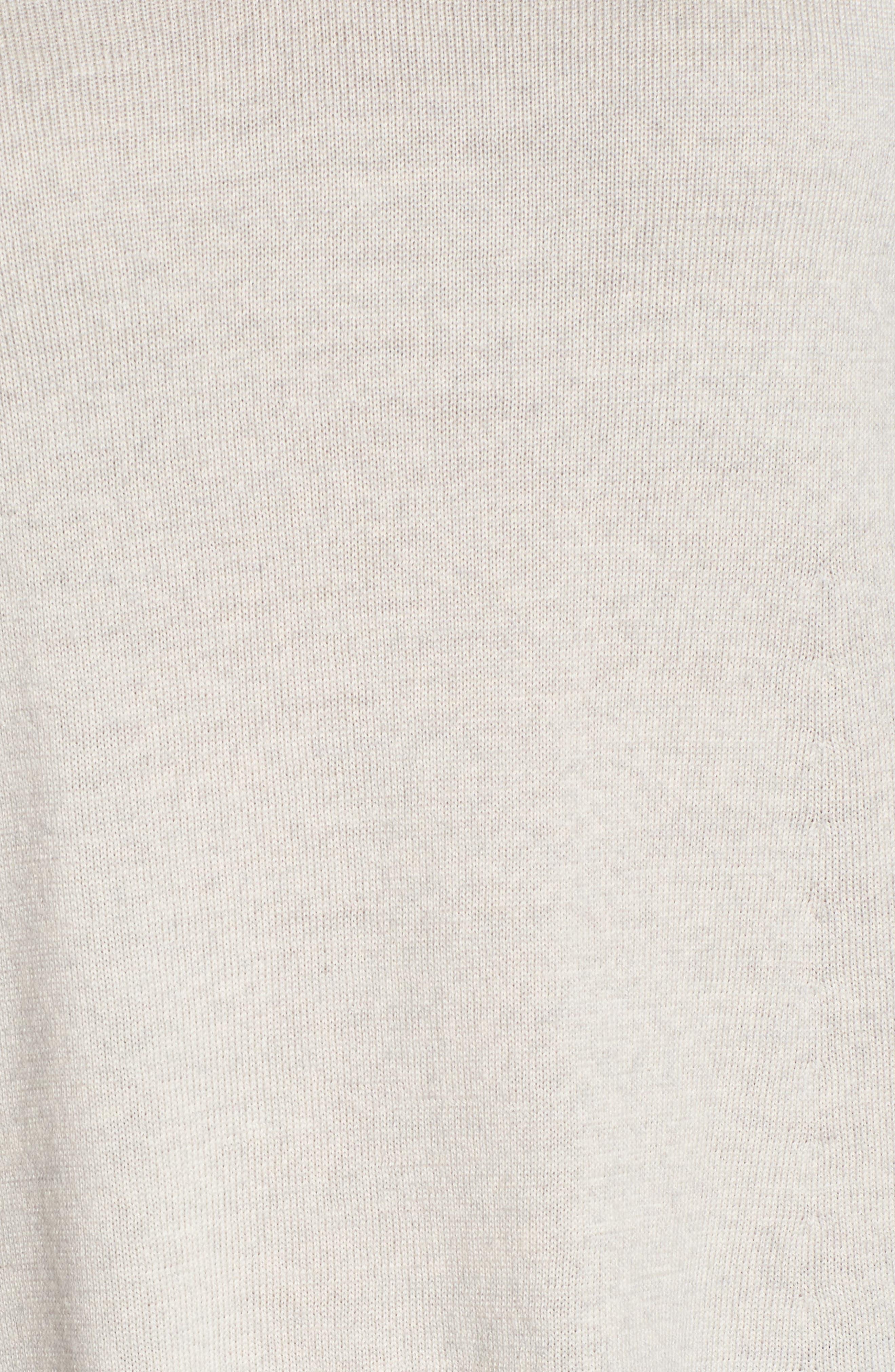 Lightweight Merino Jersey V-Neck Tunic,                             Alternate thumbnail 5, color,                             Maple Oat