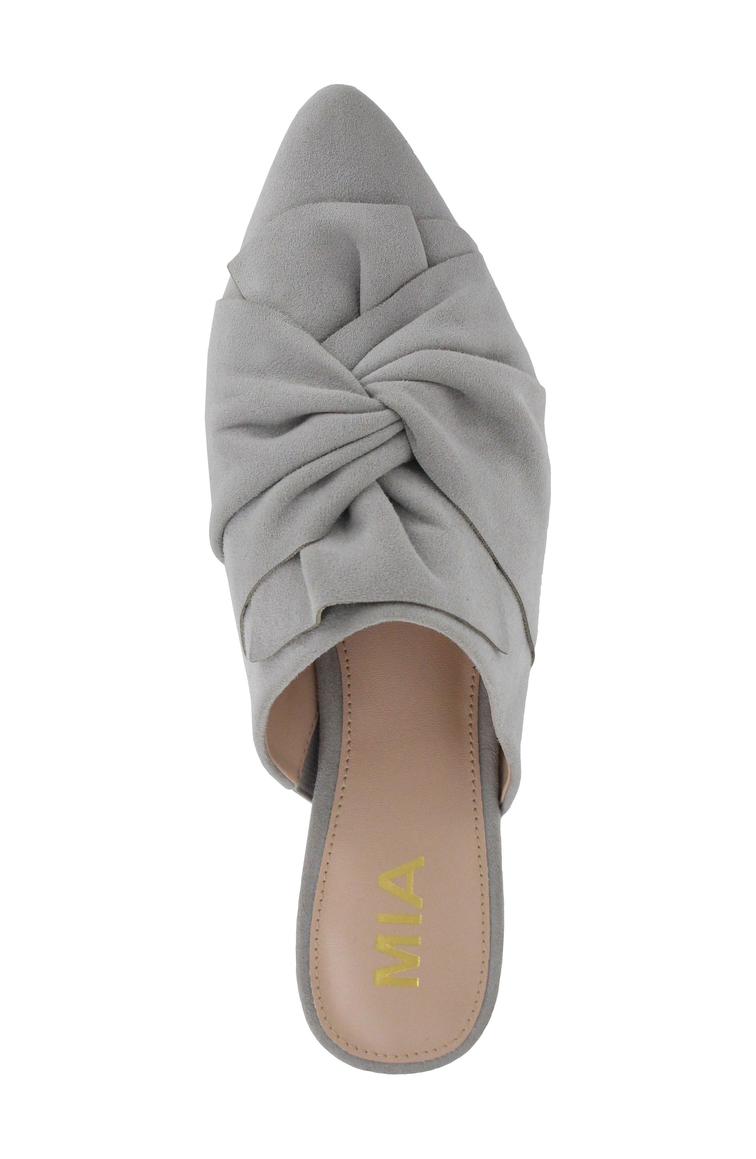 Cabaret Knotted Mule,                             Alternate thumbnail 3, color,                             Steel Gray Suede