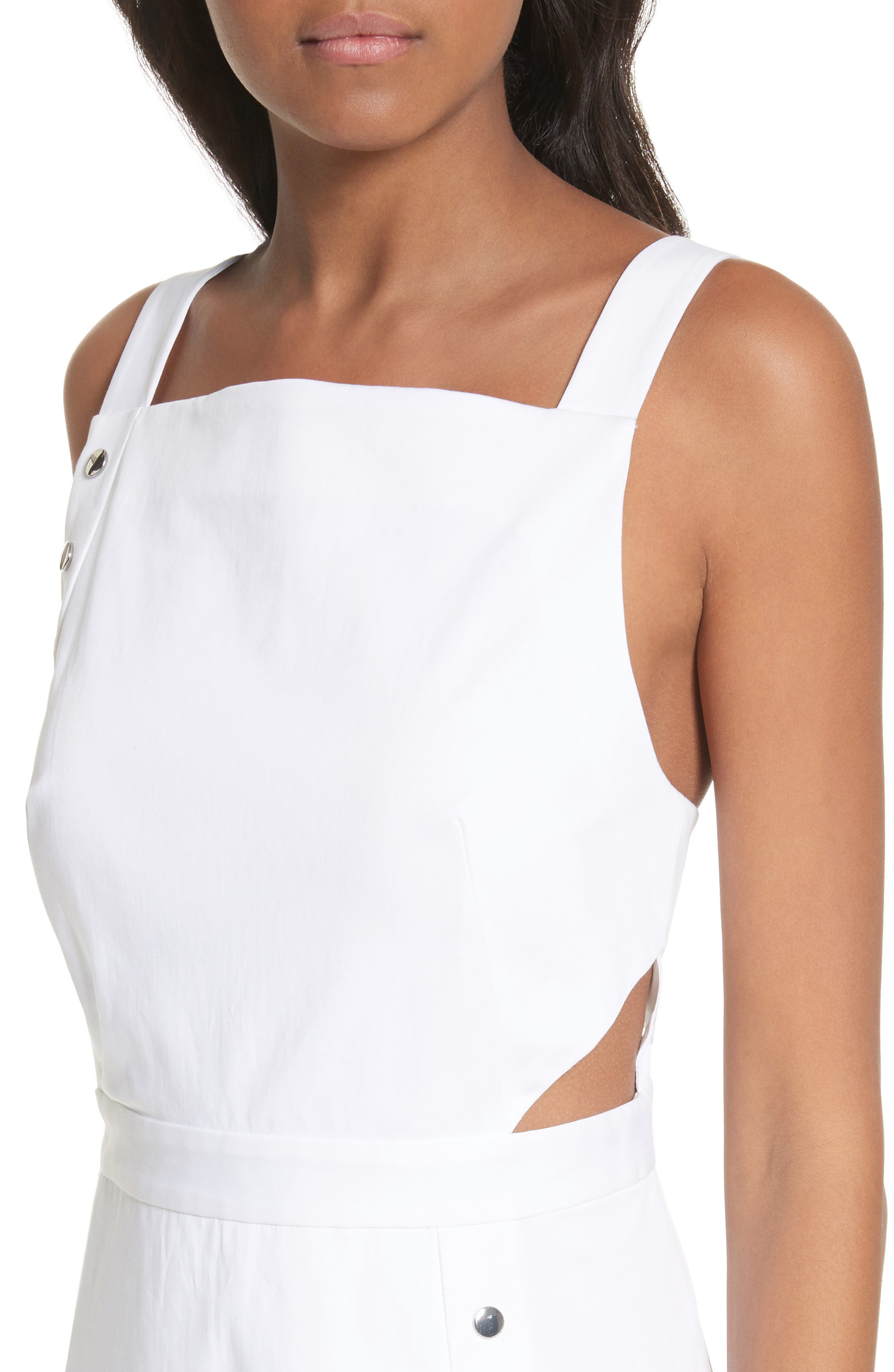 Crosby Snap Strappy Dress,                             Alternate thumbnail 6, color,                             White
