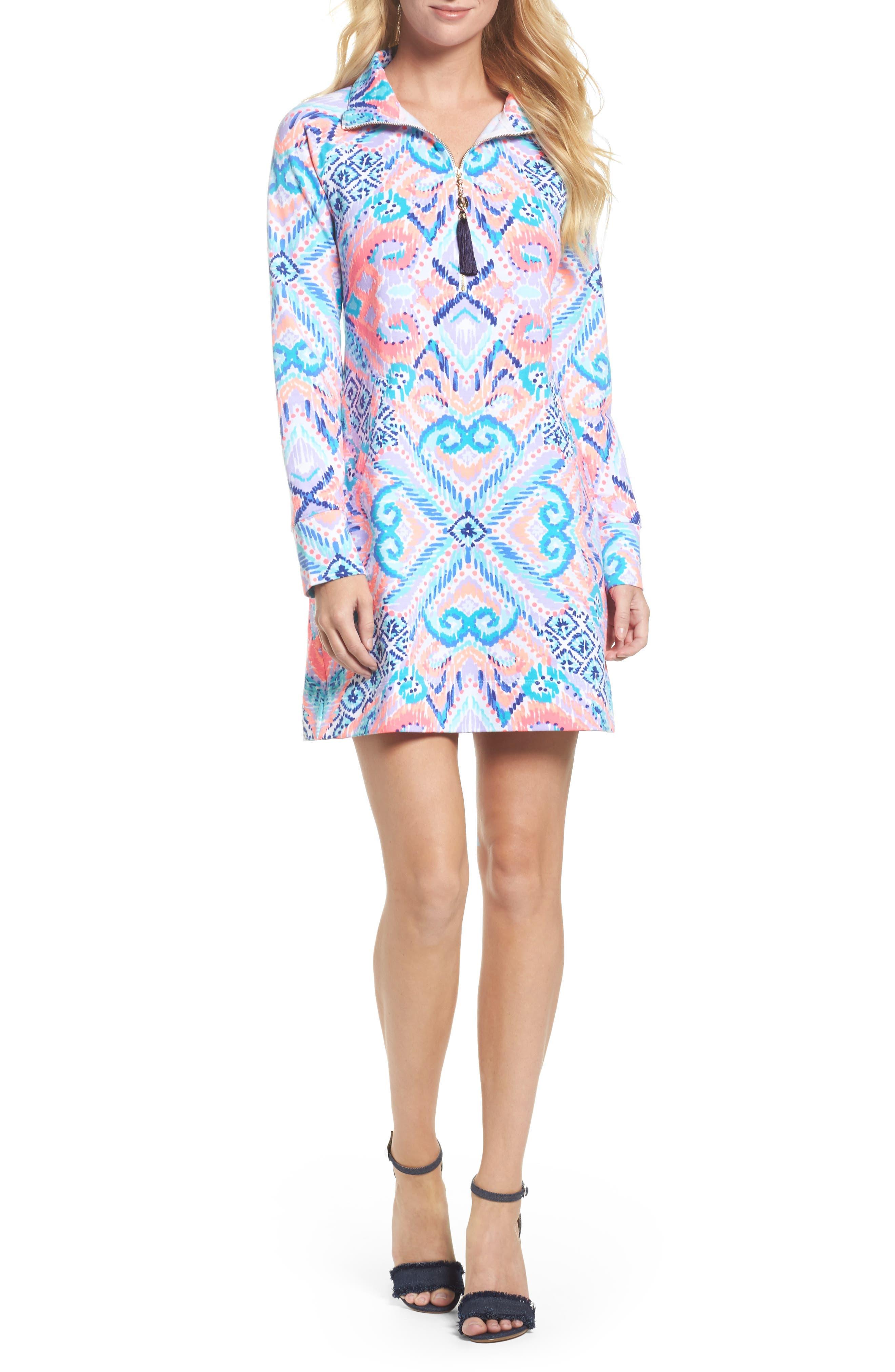 Skipper UPF 50+ Dress,                             Main thumbnail 1, color,                             Multi Solar Opposite