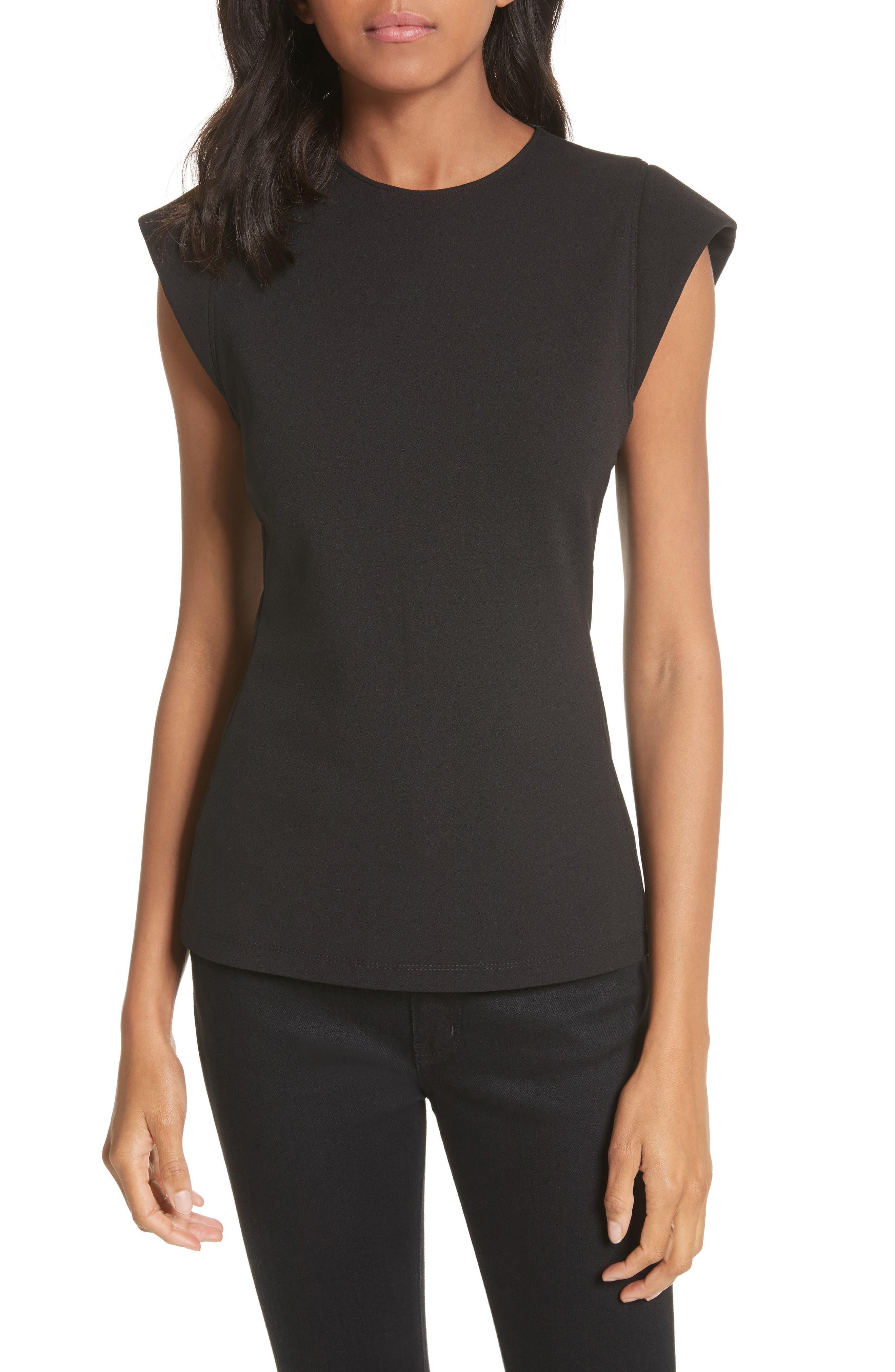 Extended Shoulder Top,                         Main,                         color, Black