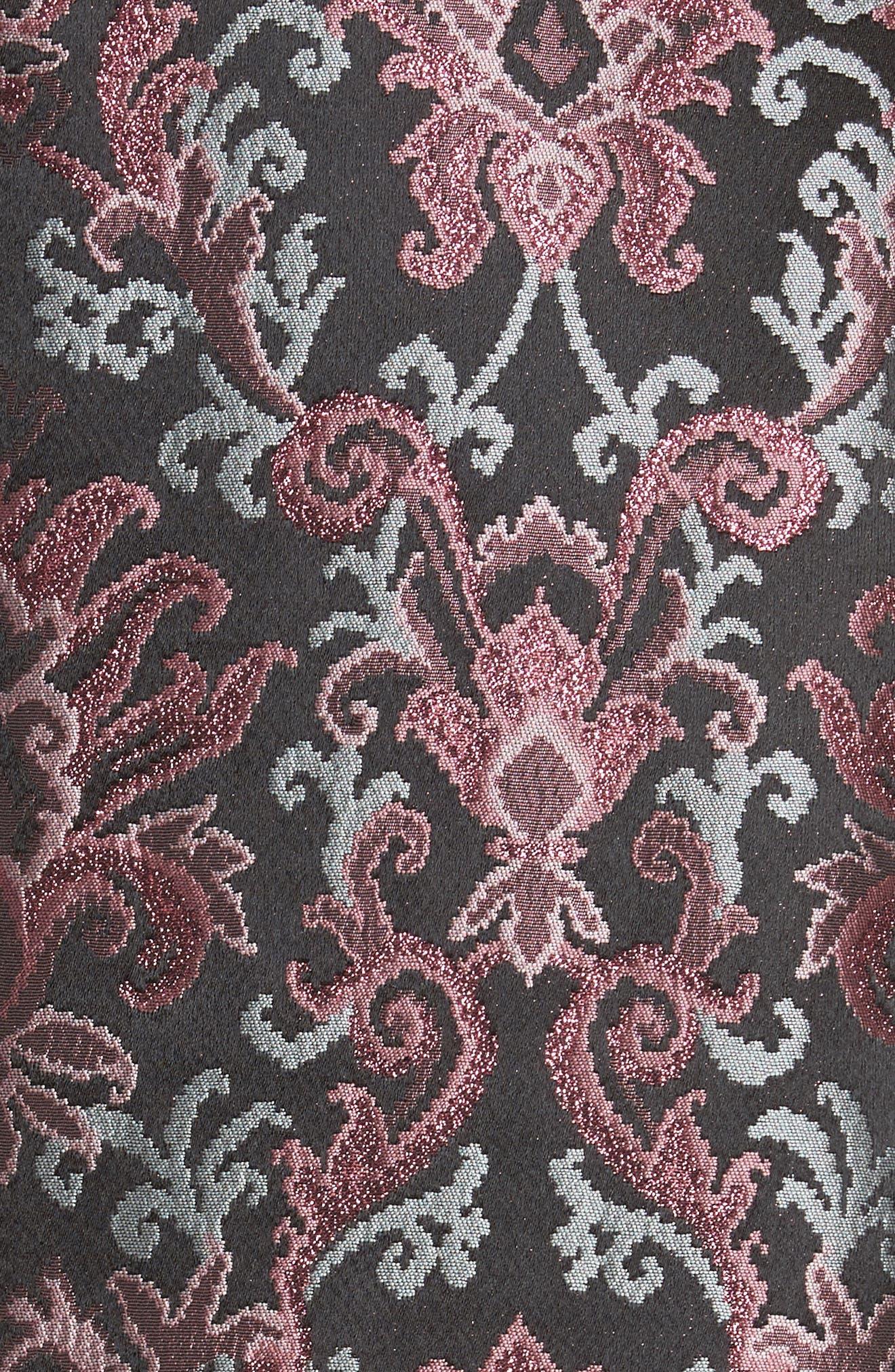 tapestry jacquard coat,                             Alternate thumbnail 5, color,                             Multi
