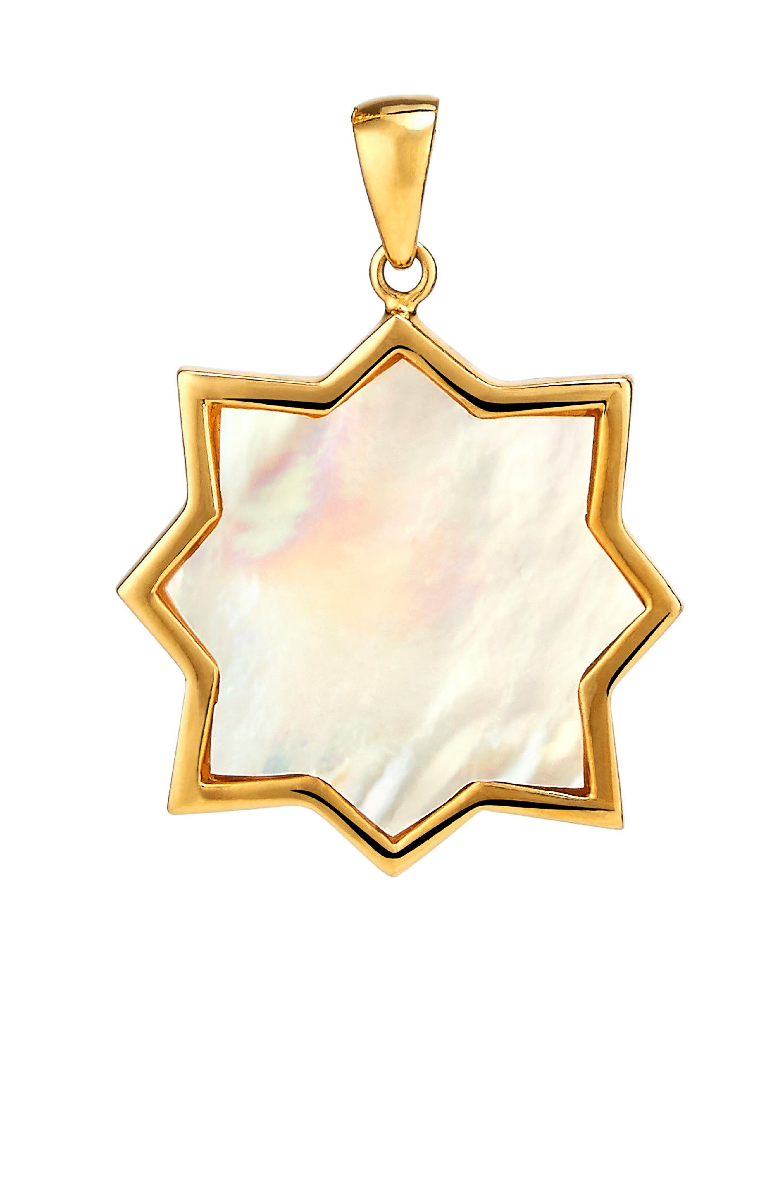 Kismet Large Mother-of Pearl Charm,                         Main,                         color, Gold - Mother Of Pearl