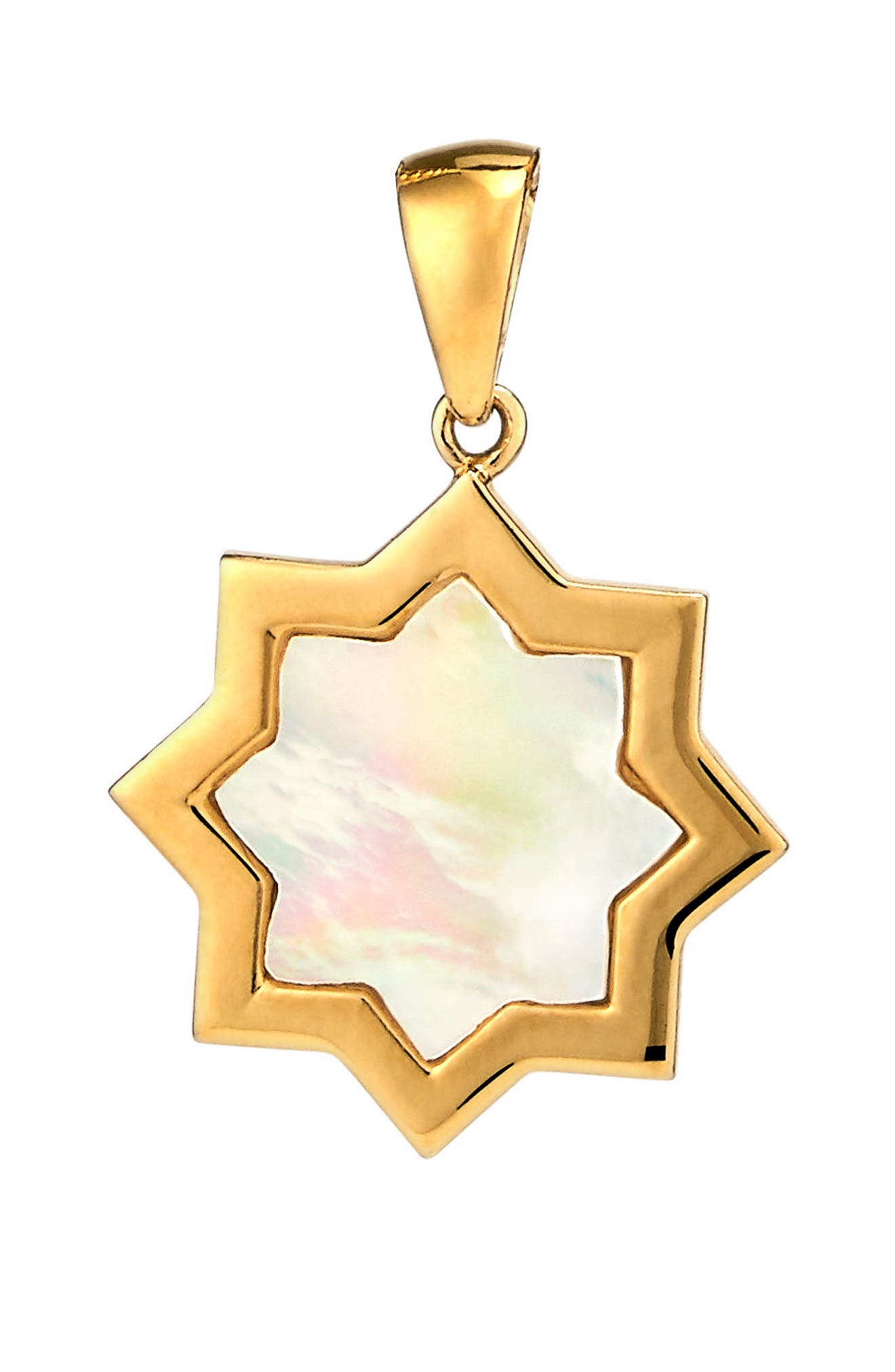 Kismet Small Mother-of Pearl Charm,                             Main thumbnail 1, color,                             Gold - Mother Of Pearl